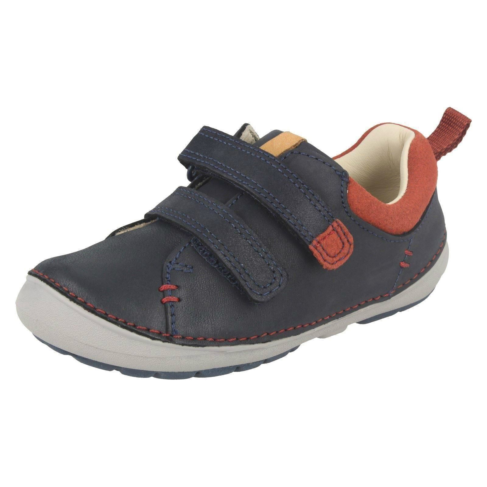 Clarks Softly Toby Fst Boys First Shoes 5 H Navy f2ePm1xq4