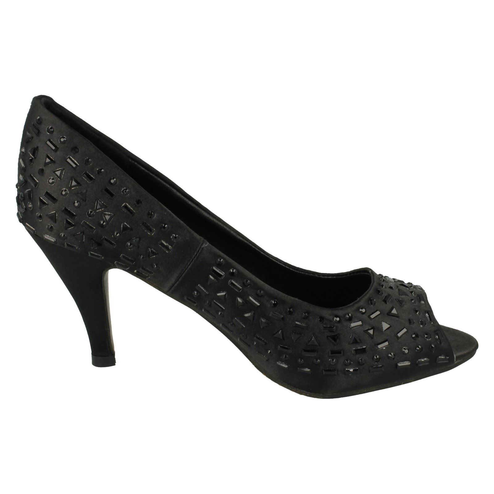 Damas Spot On Puntera Abierta Court Shoe F10165