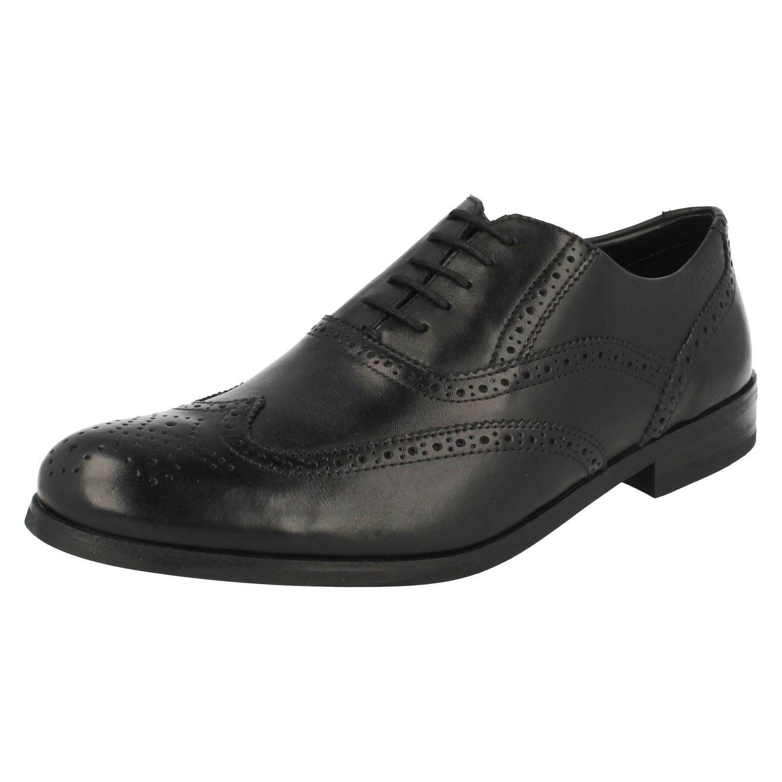 Clarks Mens Brogue Formal Shoes Brint Brogue