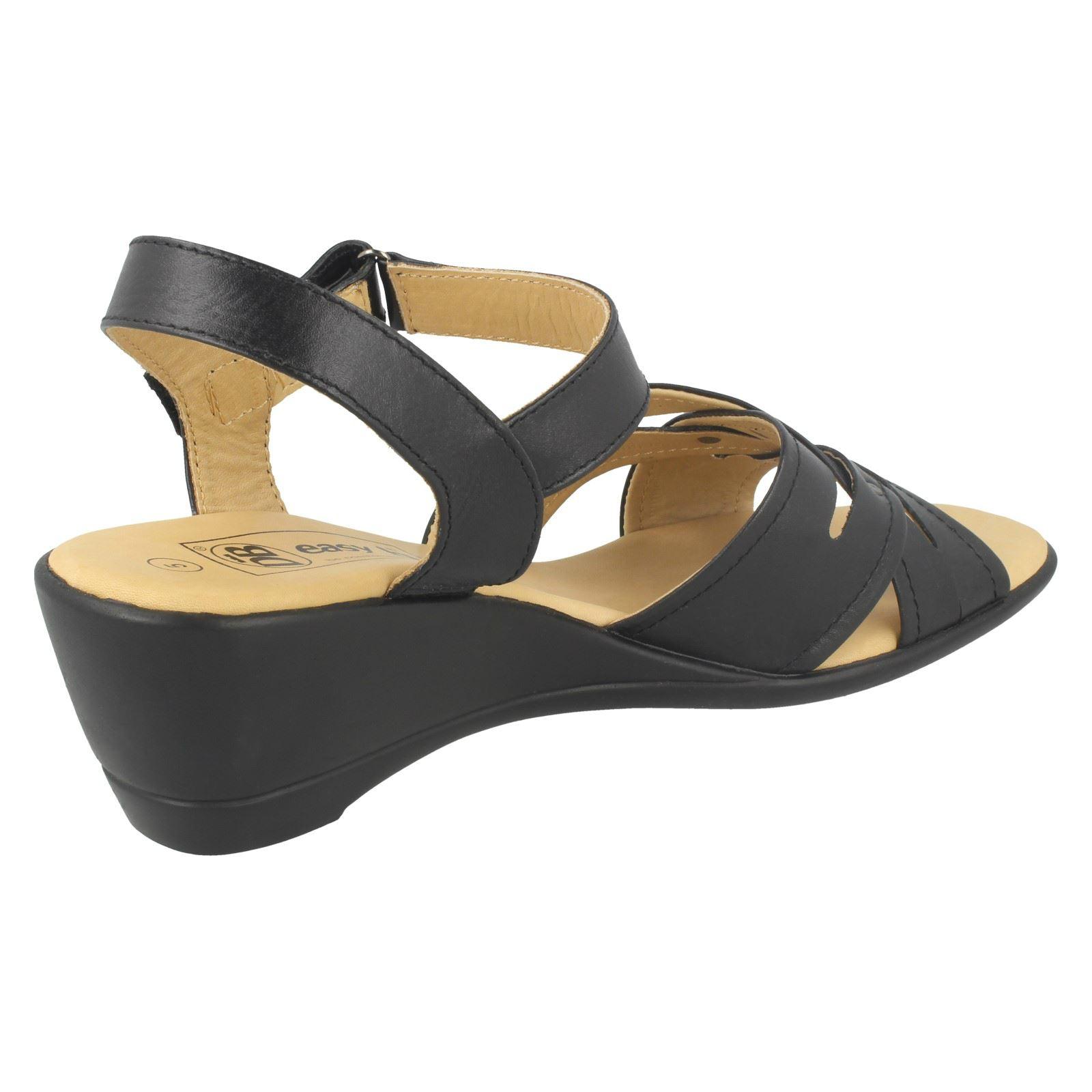 Sandalias de cuero señoras Easy B Muesca