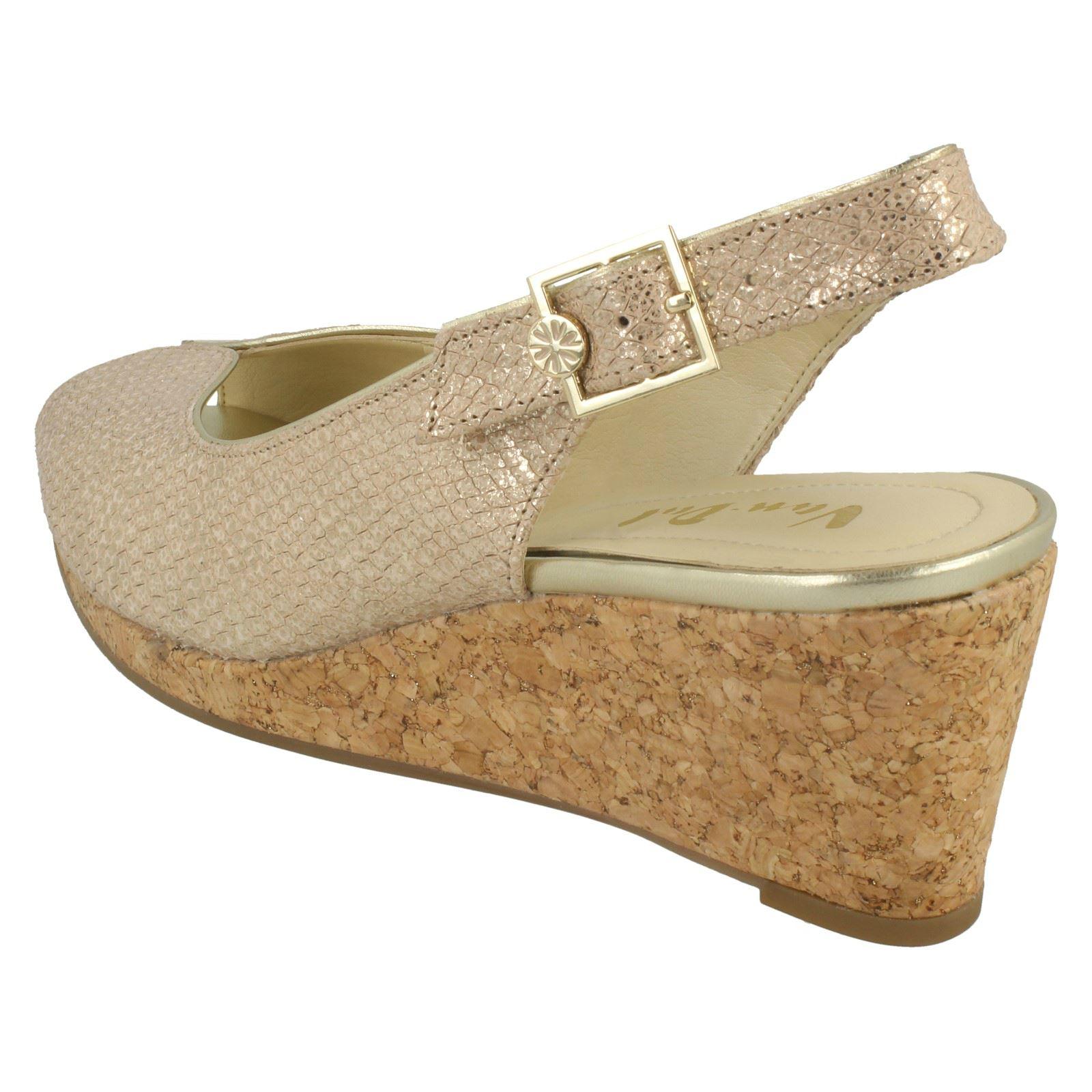 Ladies-Van-Dal-Cork-Wedge-Sandals-Gable thumbnail 3