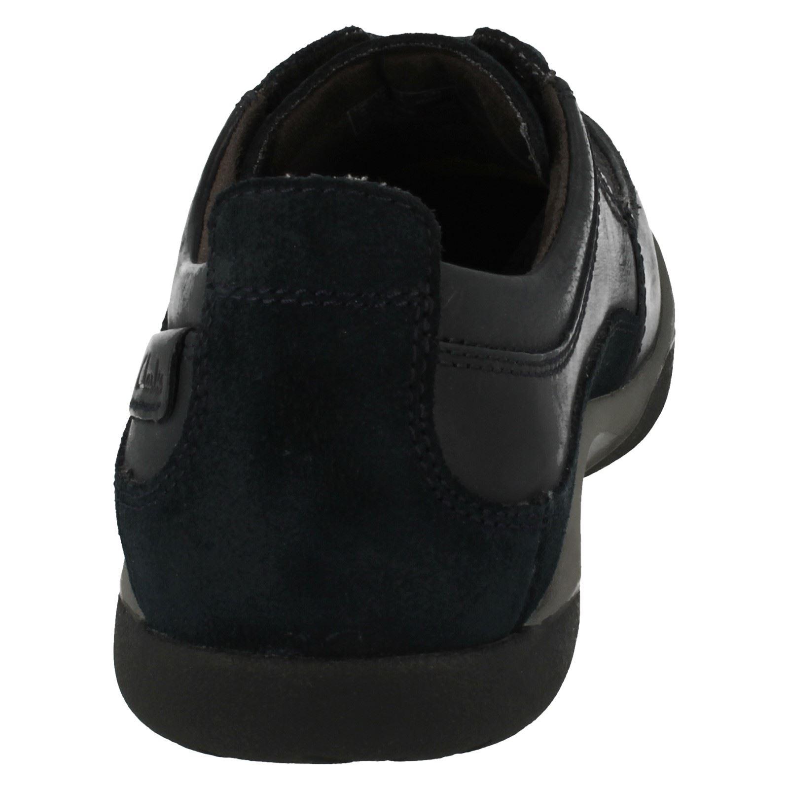 de Hombres con 'route cordones Casual Clarks Navy Walk' zapatos qzwfTRz
