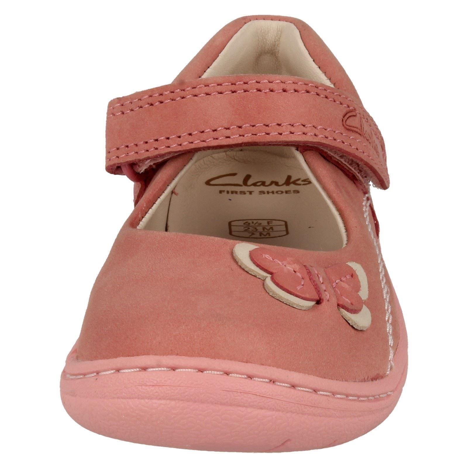 Infantil Chicas Clarks Primero Zapatos Suavemente Wow Mary Jane