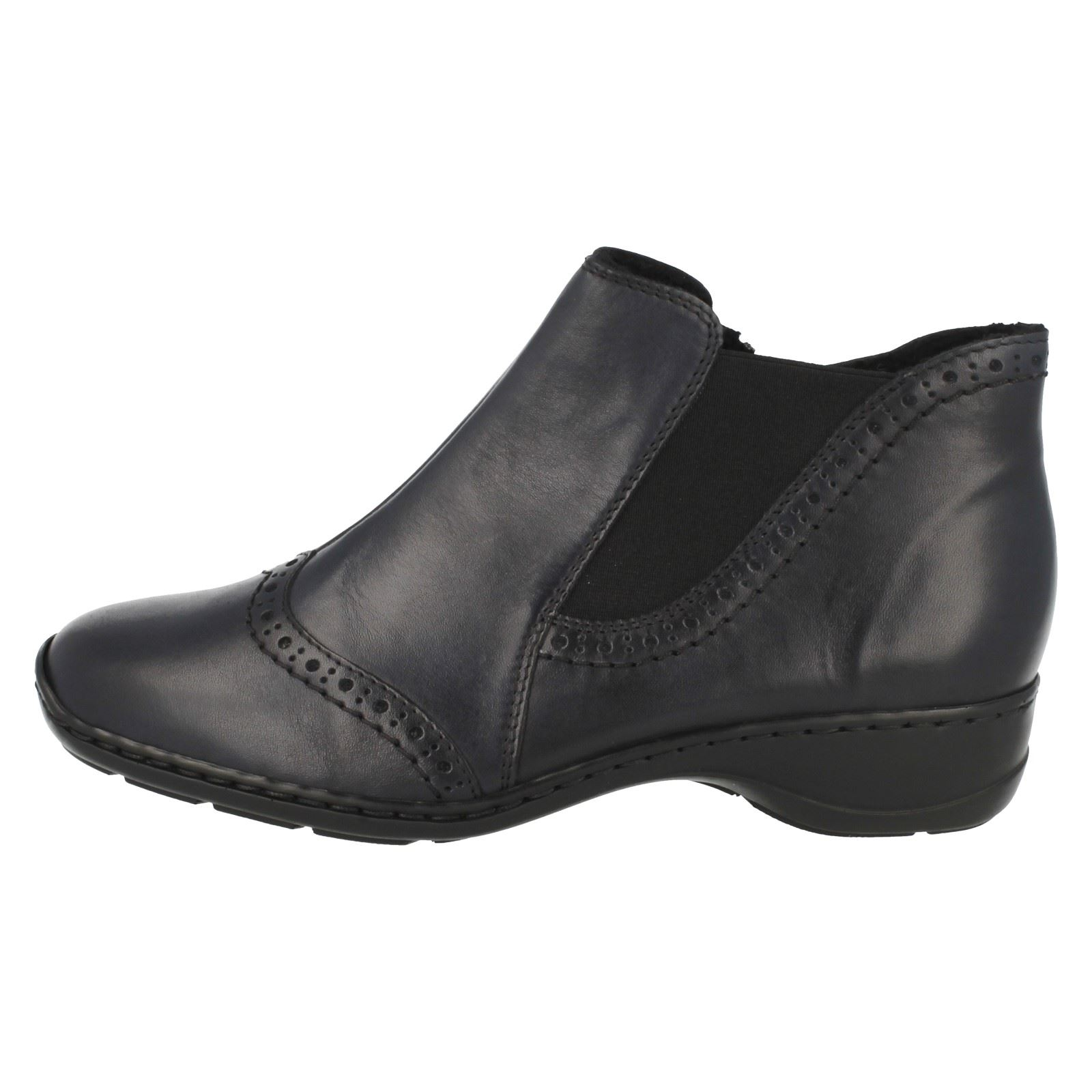 Ladies Rieker Warm Lined Casual Ankle Boots 58352