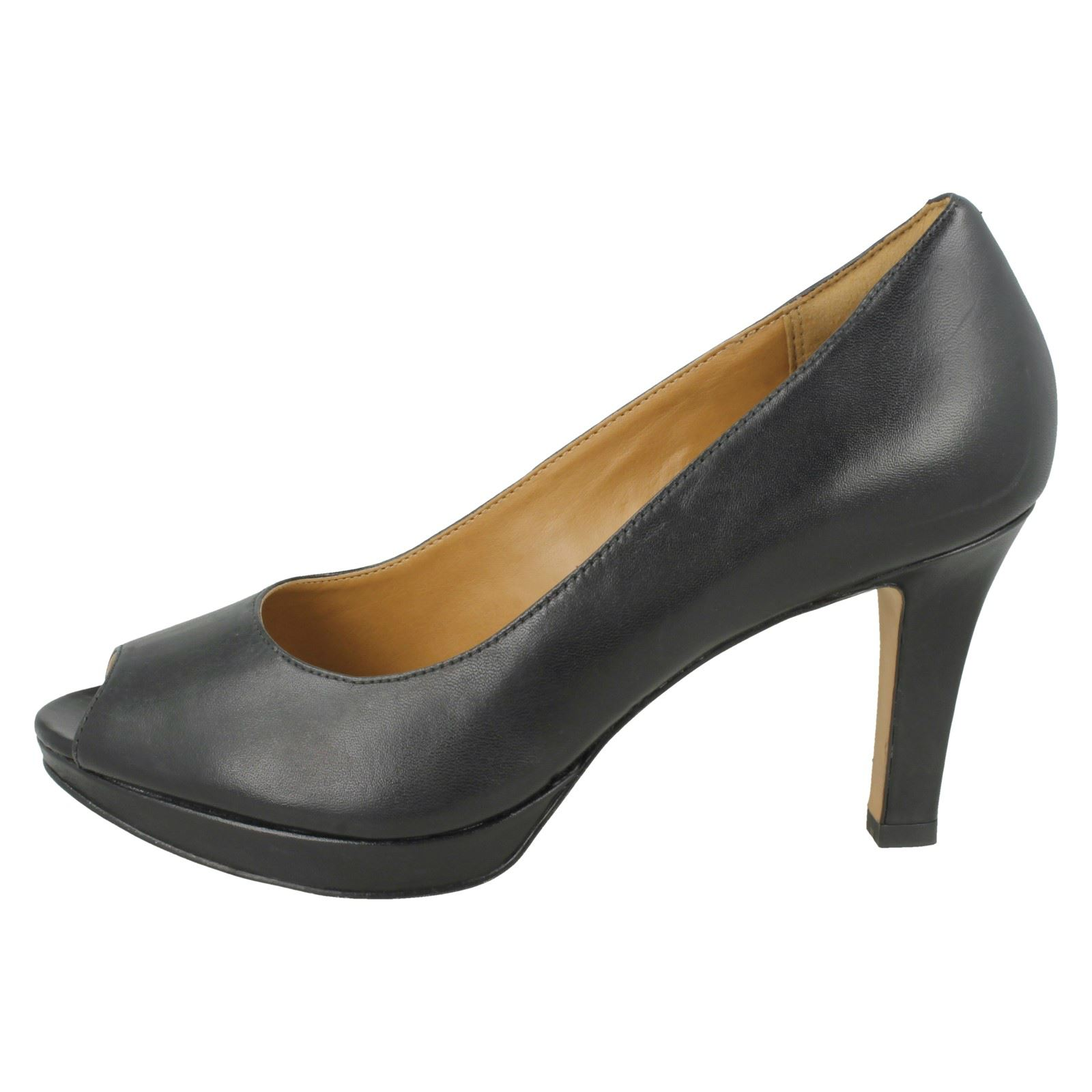 Smart Ladies Toe Britta Black Heels Clarks Peep Delsie ttqwnpaUr