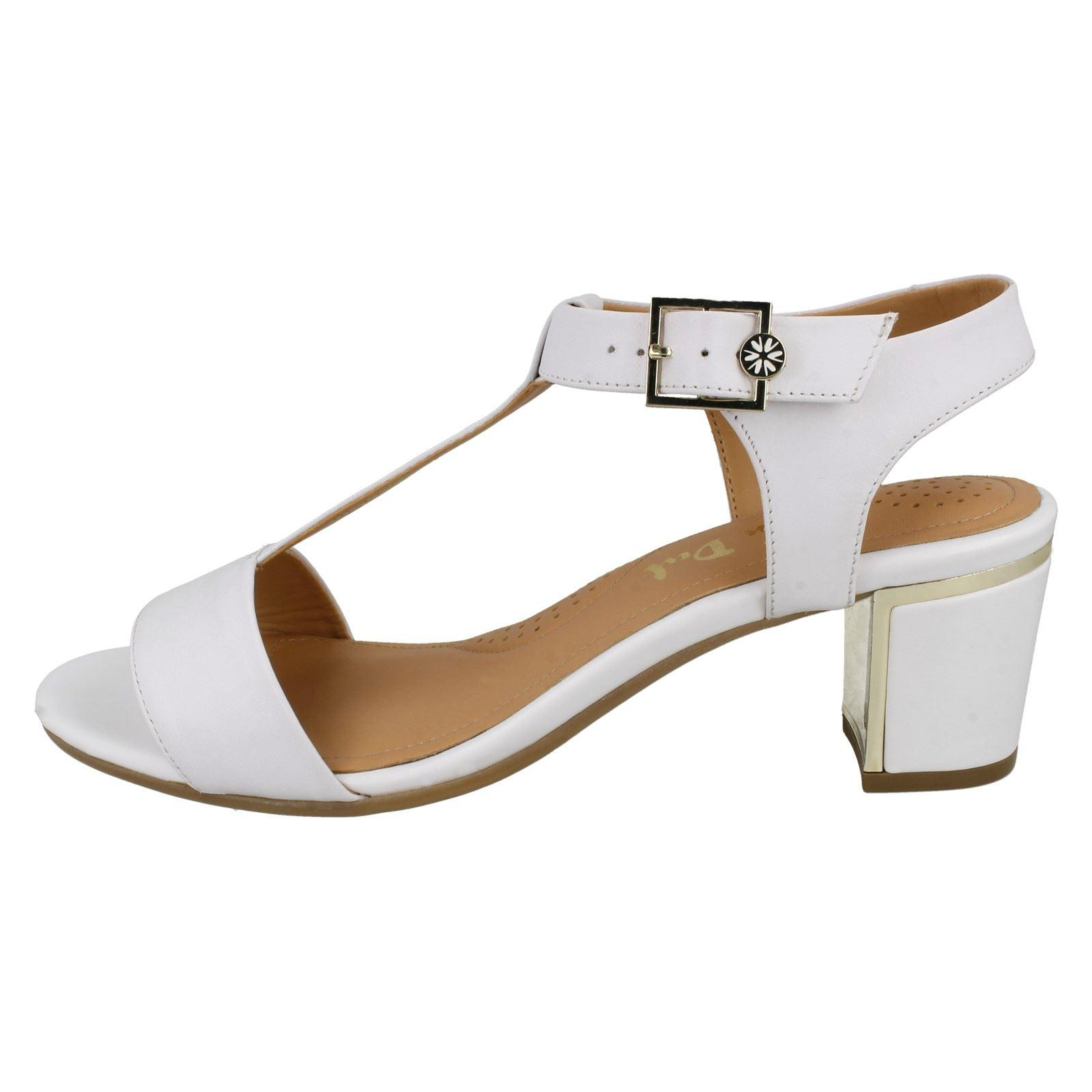 Ladies Bright Van white Heeled Sandals Dal Malone White wvaqPw