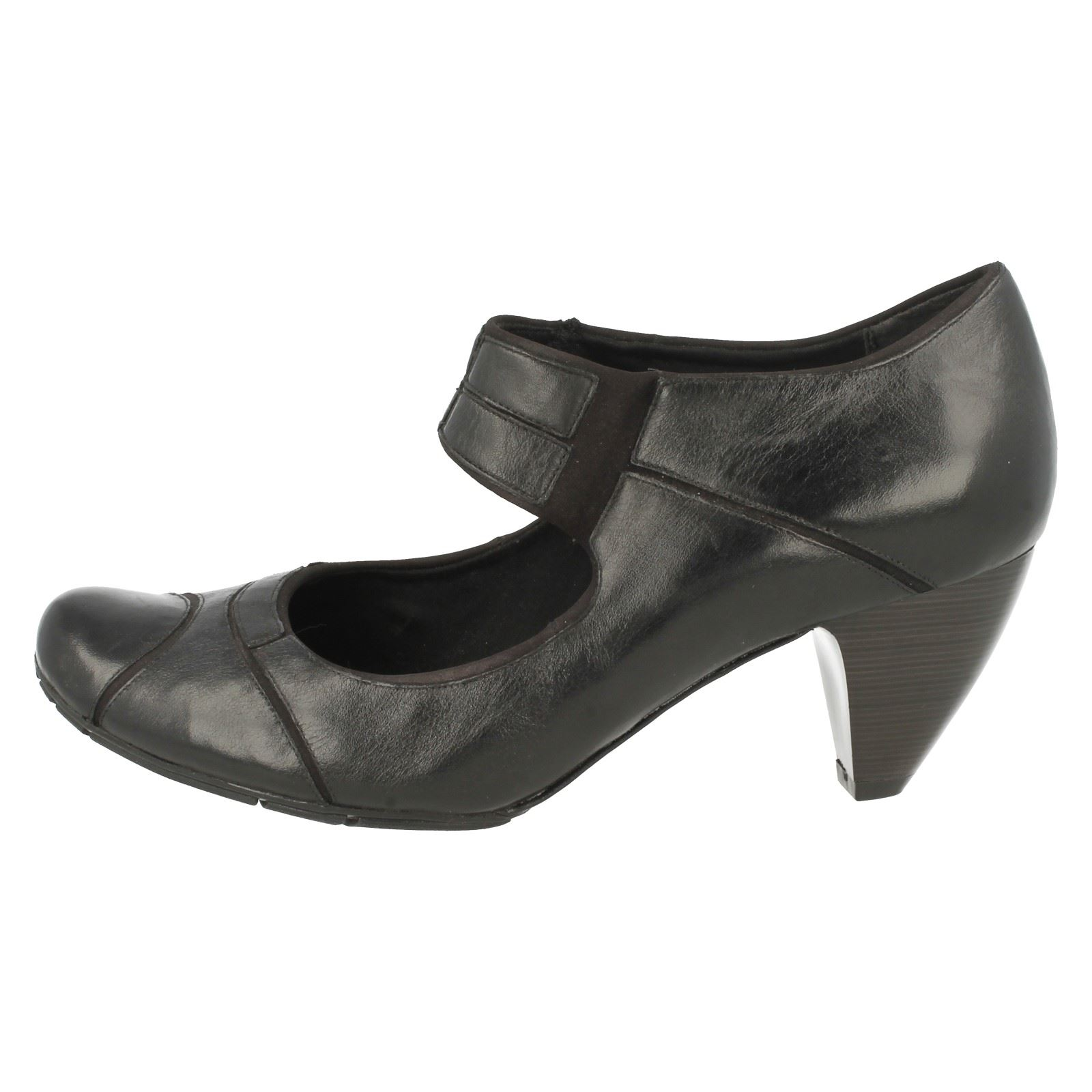 Smart Clarks Softwear Black Shoes Ladies Any Place rCC8Ewq