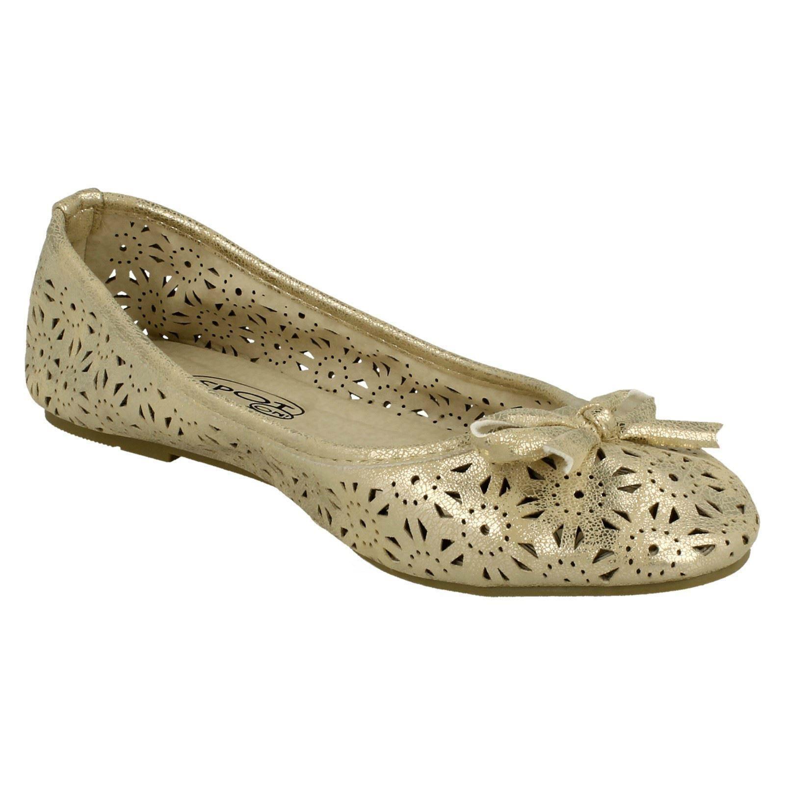 Damas Spot on Slip on Bailarina Zapatos