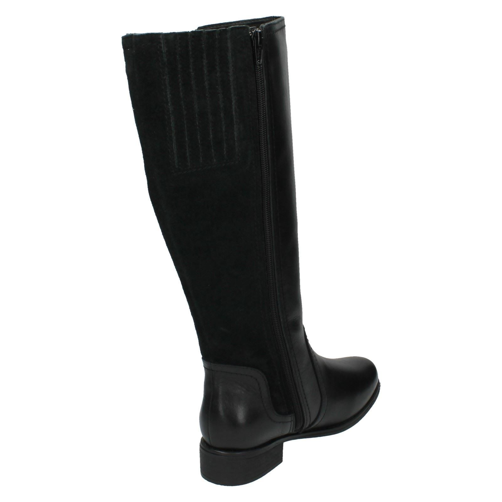 Grandes zapatos con descuento Padders Ladies Wide Fitting Mid Calf Length Long Boots - Myra