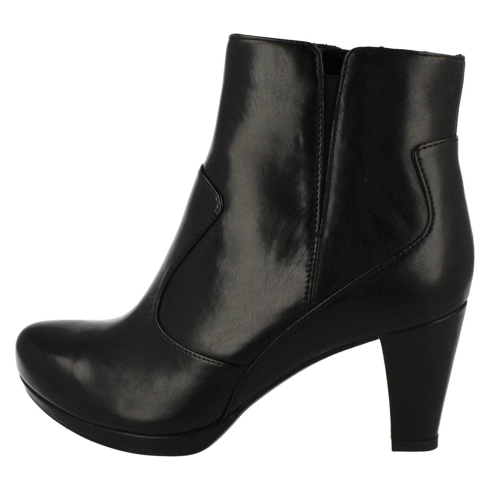 Zen Ankel Boots Ladies Clarks Black Chorus Heeled BqAXzZw0