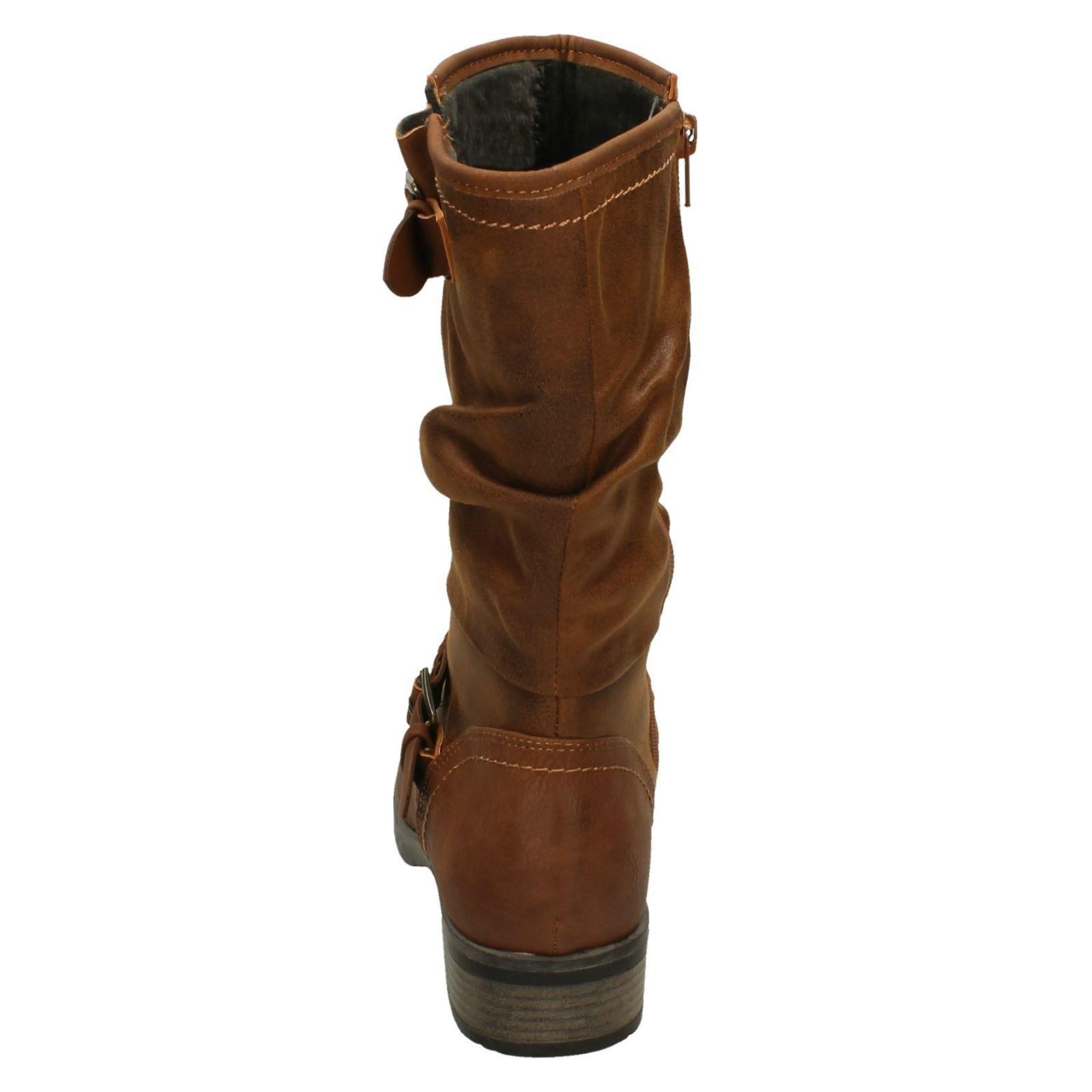 Calf High Ladies Brown Lined Stylish Fleece Rieker Boots 98860 AqfIqP