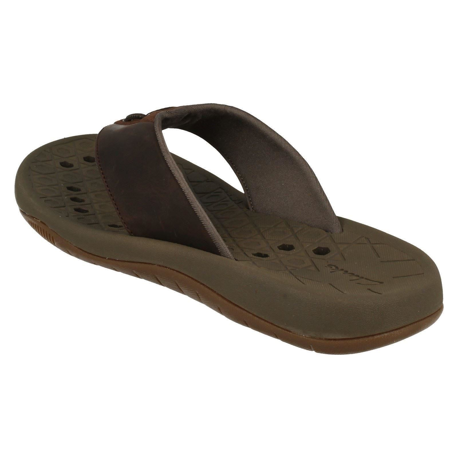 uk store new concept best prices Details about Clarks Mens Toe Post Summer Sandals Bosun Coast