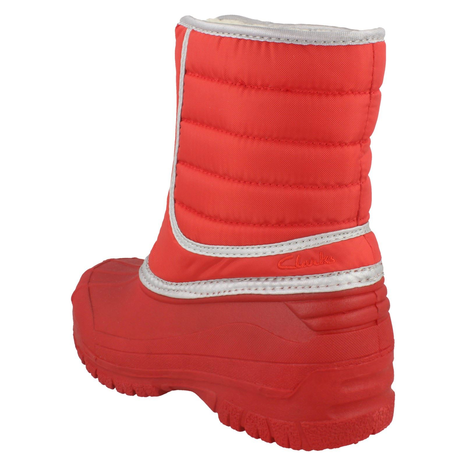 Clarks Botas niñas de trail' 'snow rojo para nieve POIwrqZO