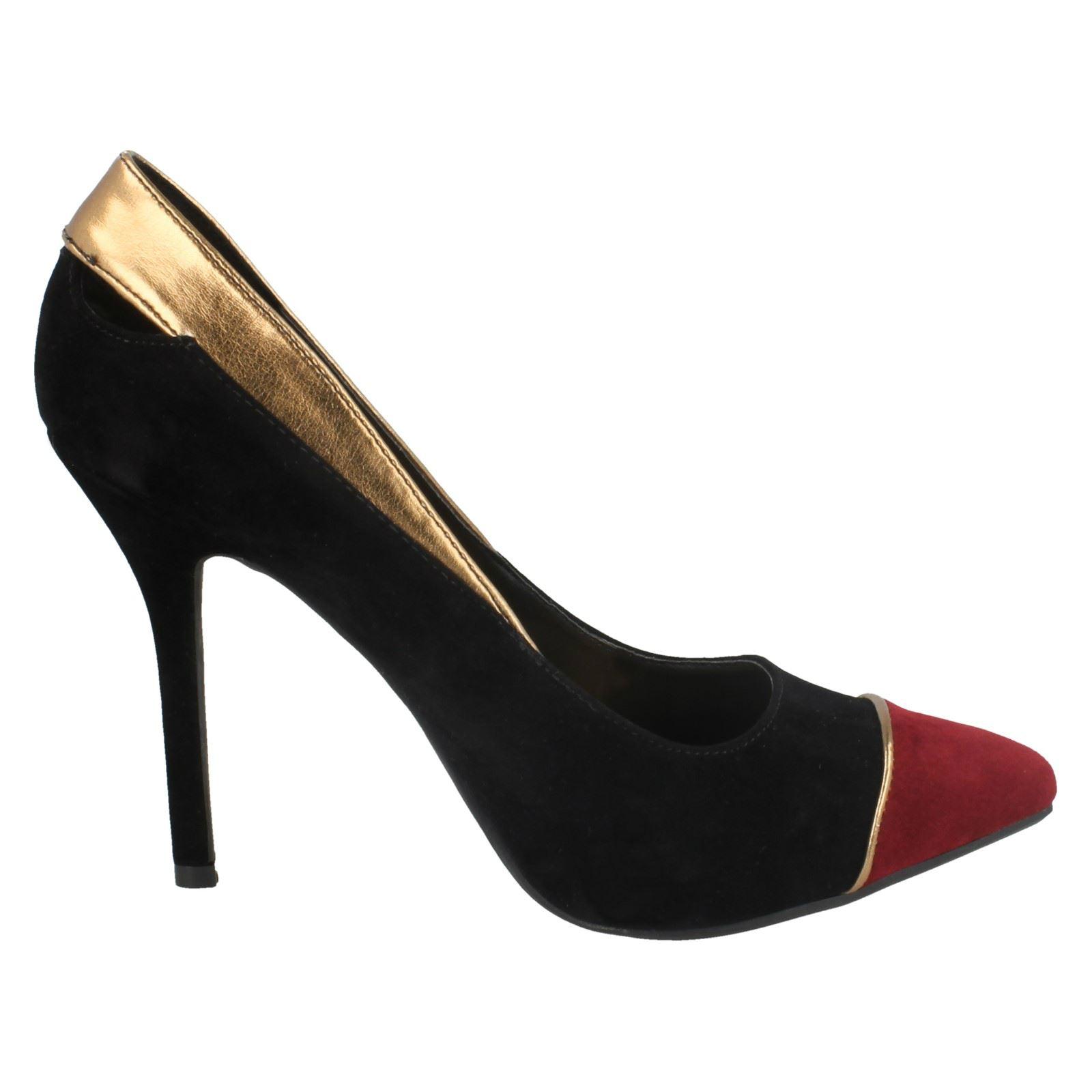 Damas Spot On Tacón Zapatos Tribunal