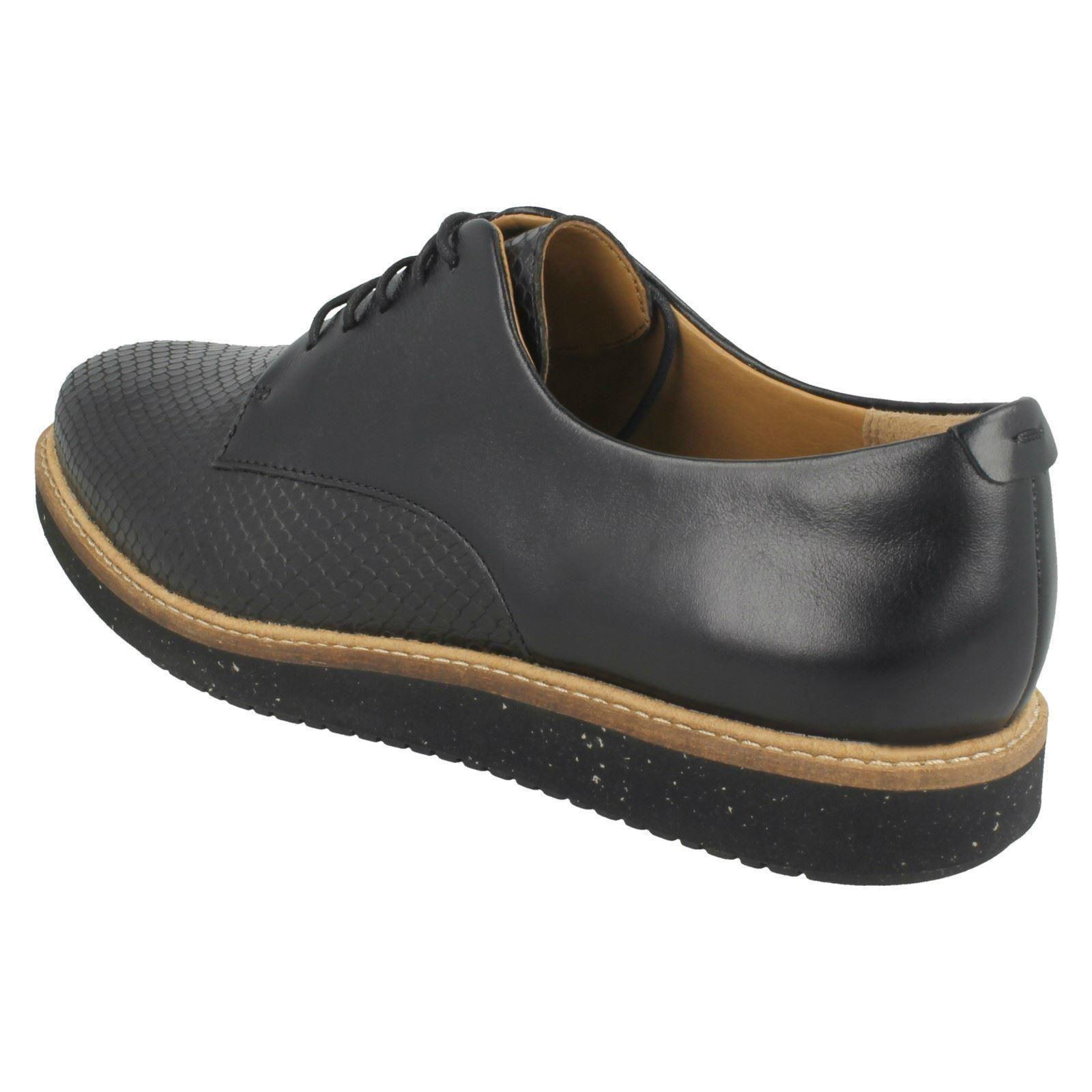 Everyday Shoes Clarks Señoras negro Darby' 'glick Casual cuero wtv5n5Cqx