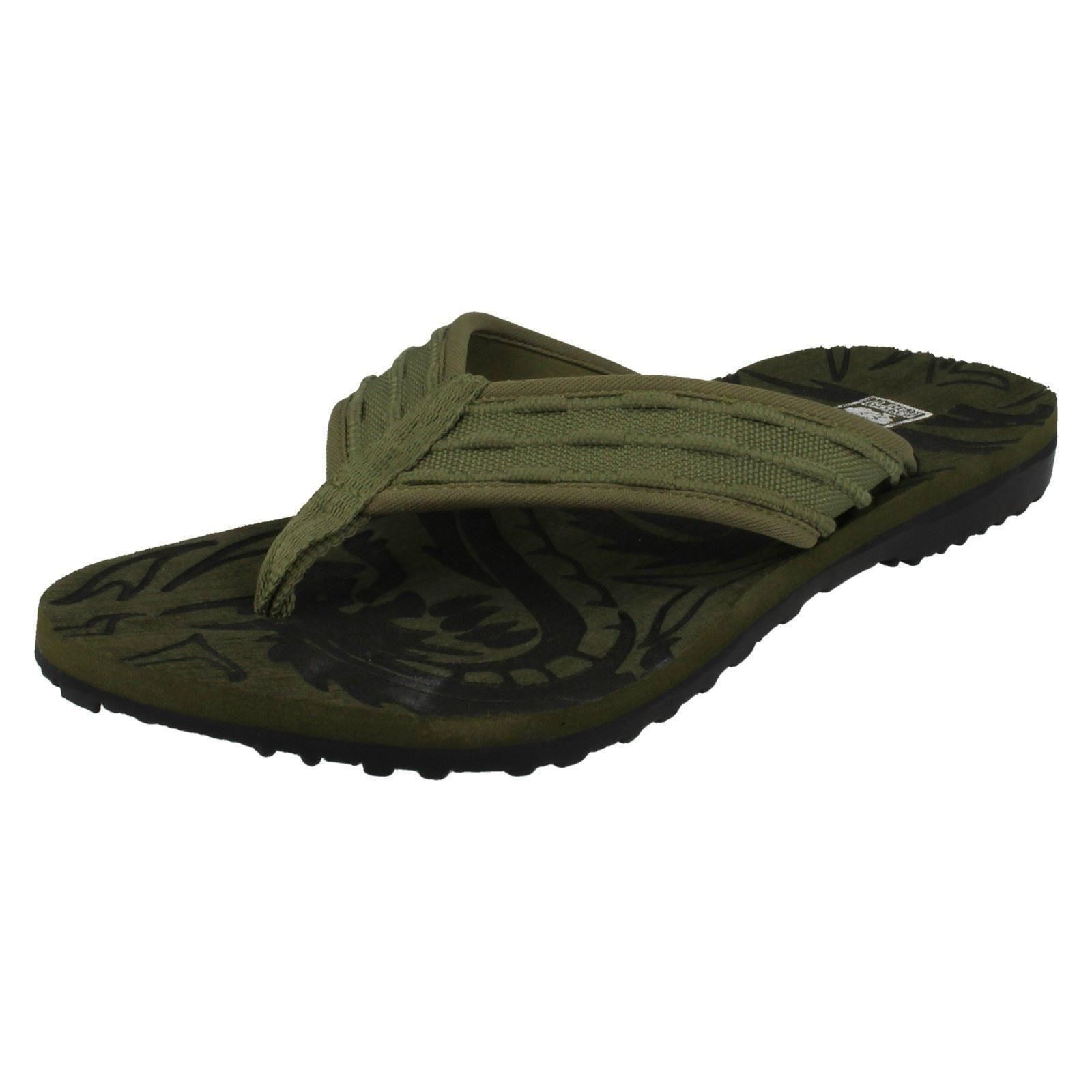 MENS DOWN TO EARTH OLIVE TOE POST MULE  STYLE - A0043
