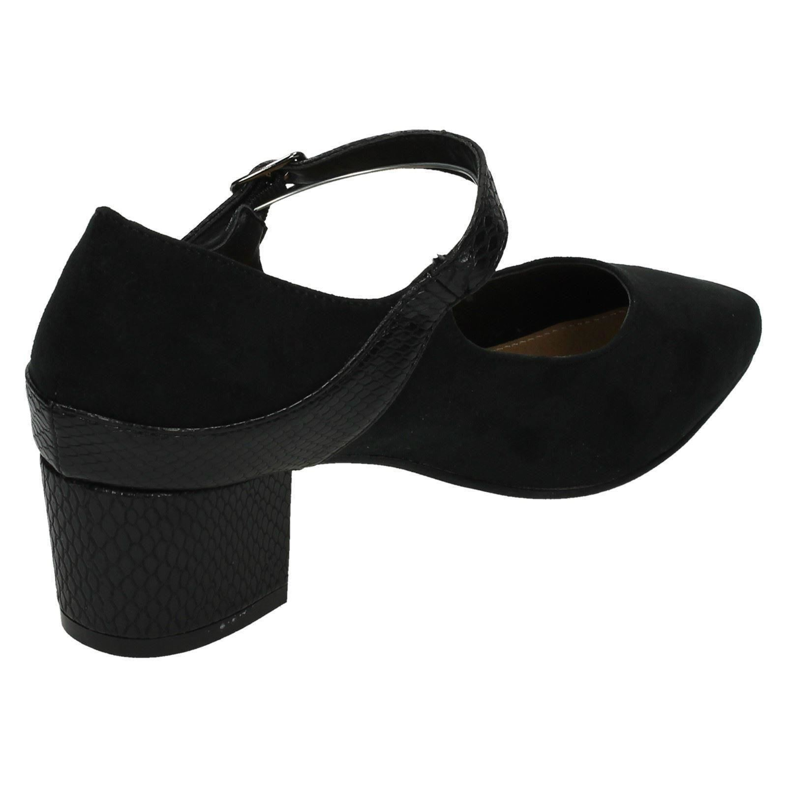Ladies-Anne-Michelle-Wide-Fitting-Mid-Chunky-Heel-Mary-Jane-Shoes thumbnail 6