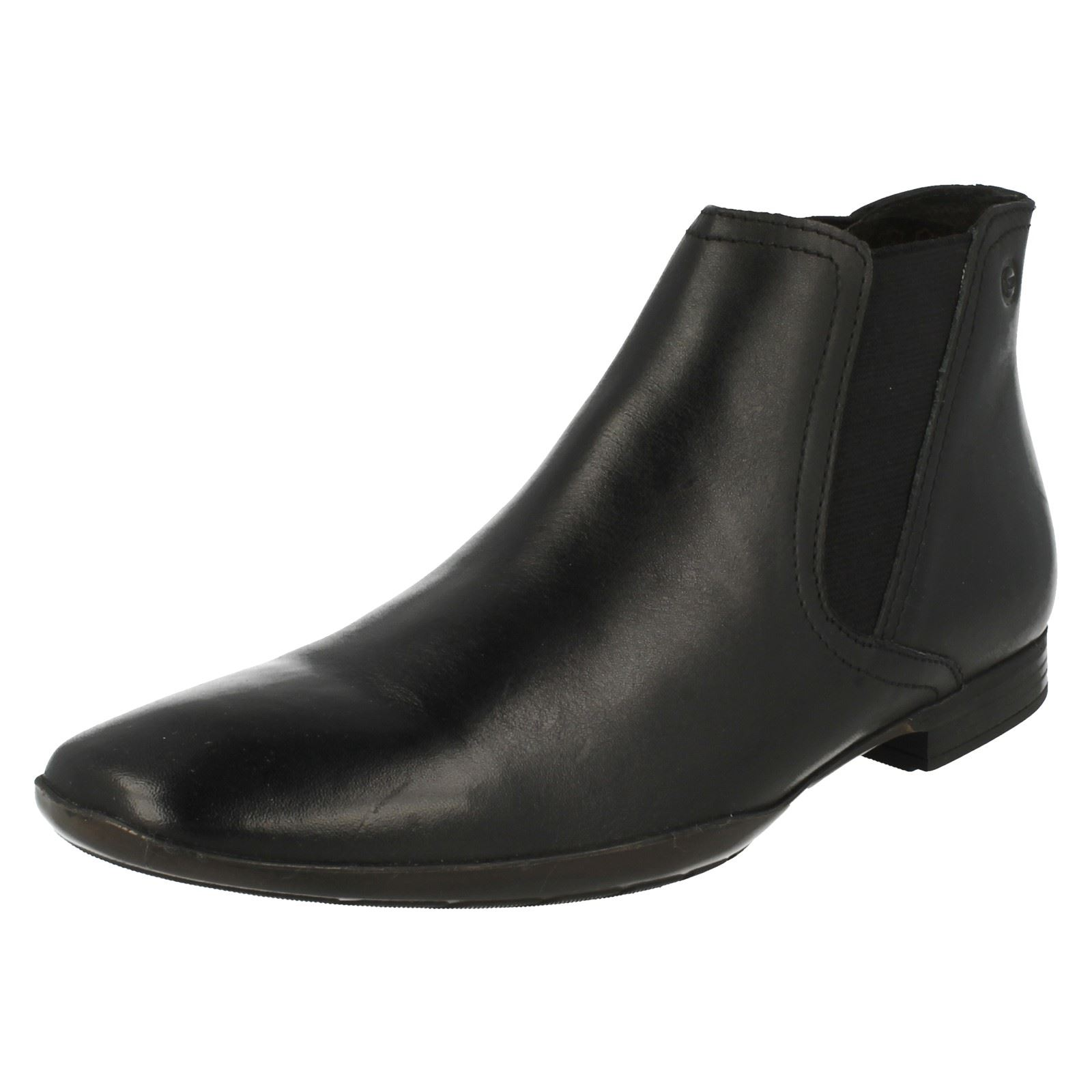 'Mens Base London' Boots Pointed Toe Slip On Ankle Boots London' - Leo 06dc7d