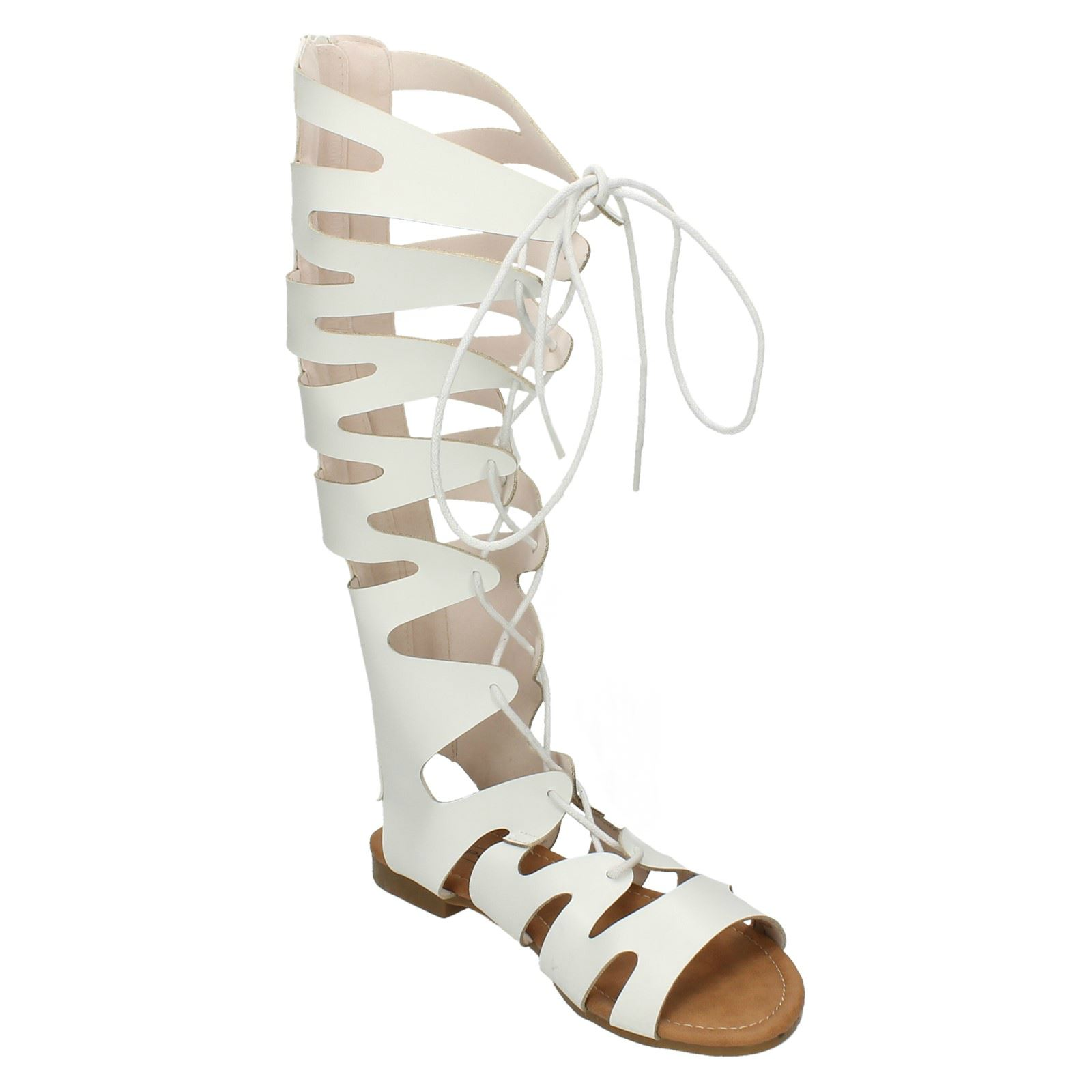 Lace Up Gladiator Sandals Ladies Spot On
