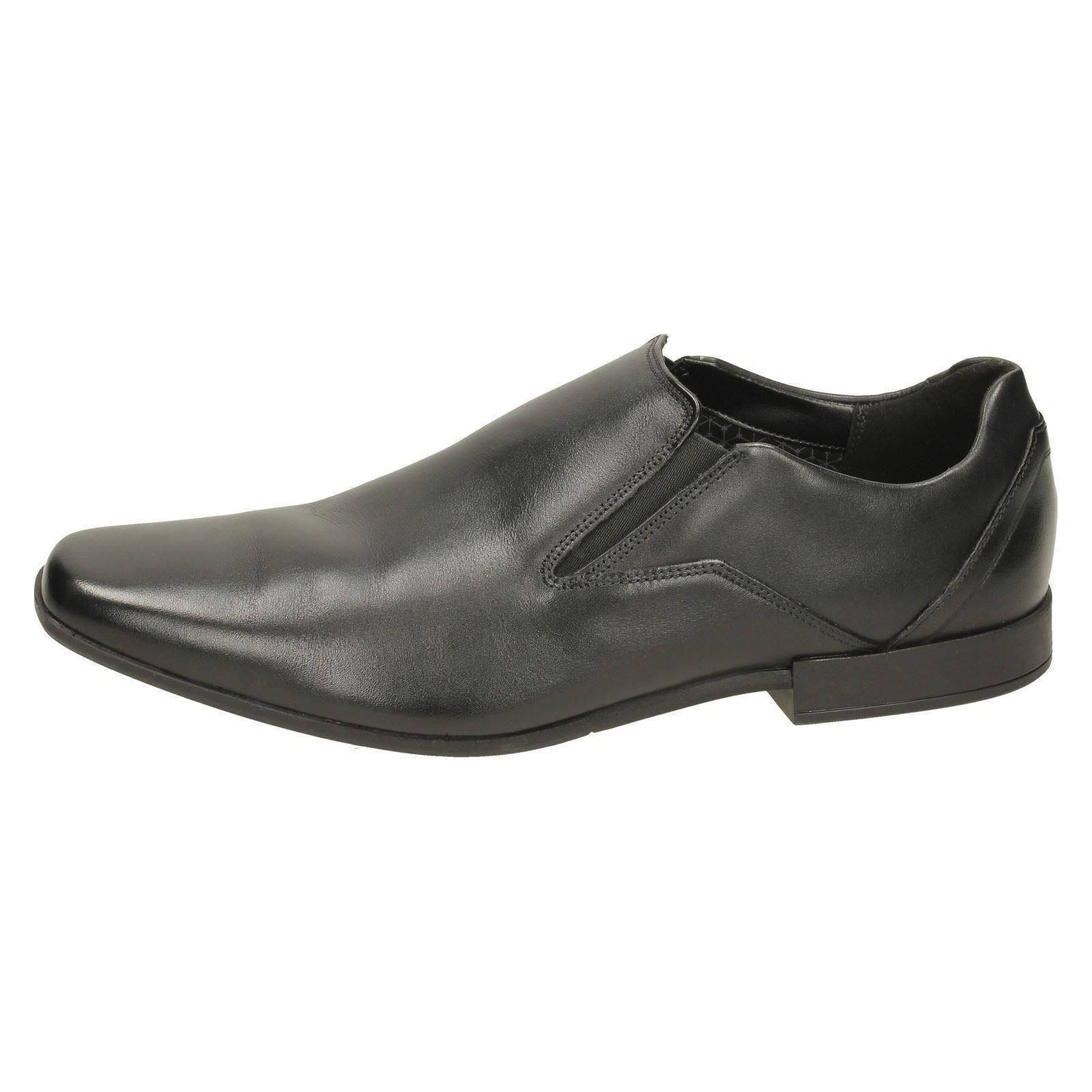 Formal hombre On Slip negro Glement de Squared cuero Clarks Toe zapatos para 5Rq5wE
