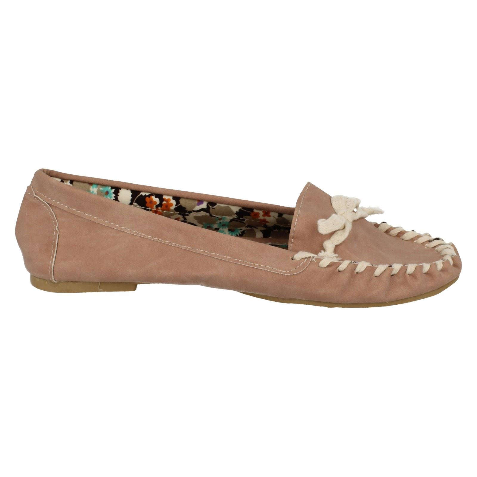 Ladies-Spot-on-Pantofola-Stile-Mocassini-da-039-039