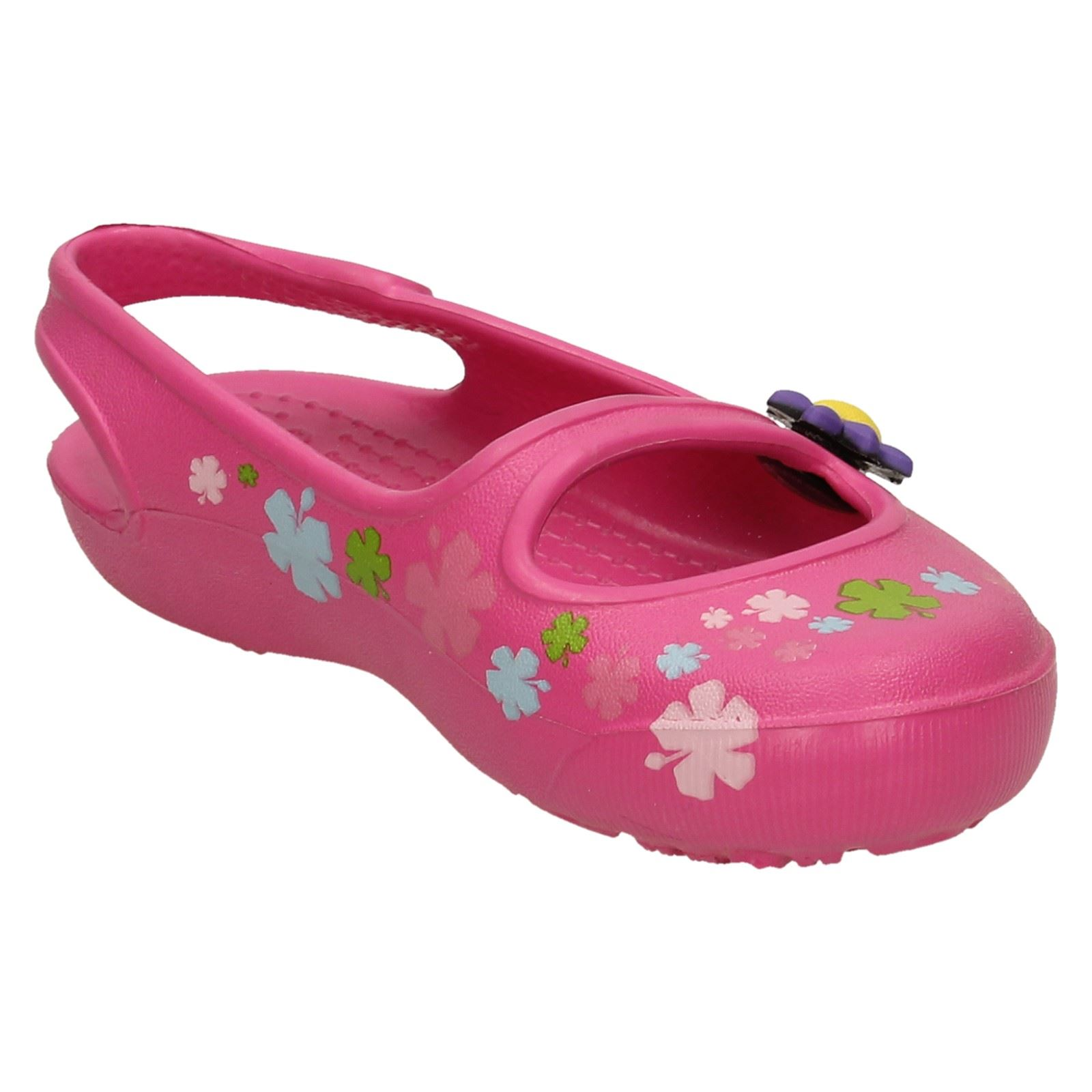 33afd4f96 Girls Crocs Gabby Flowers Slip on Sandals Fuchsia 4 UK Standard for ...