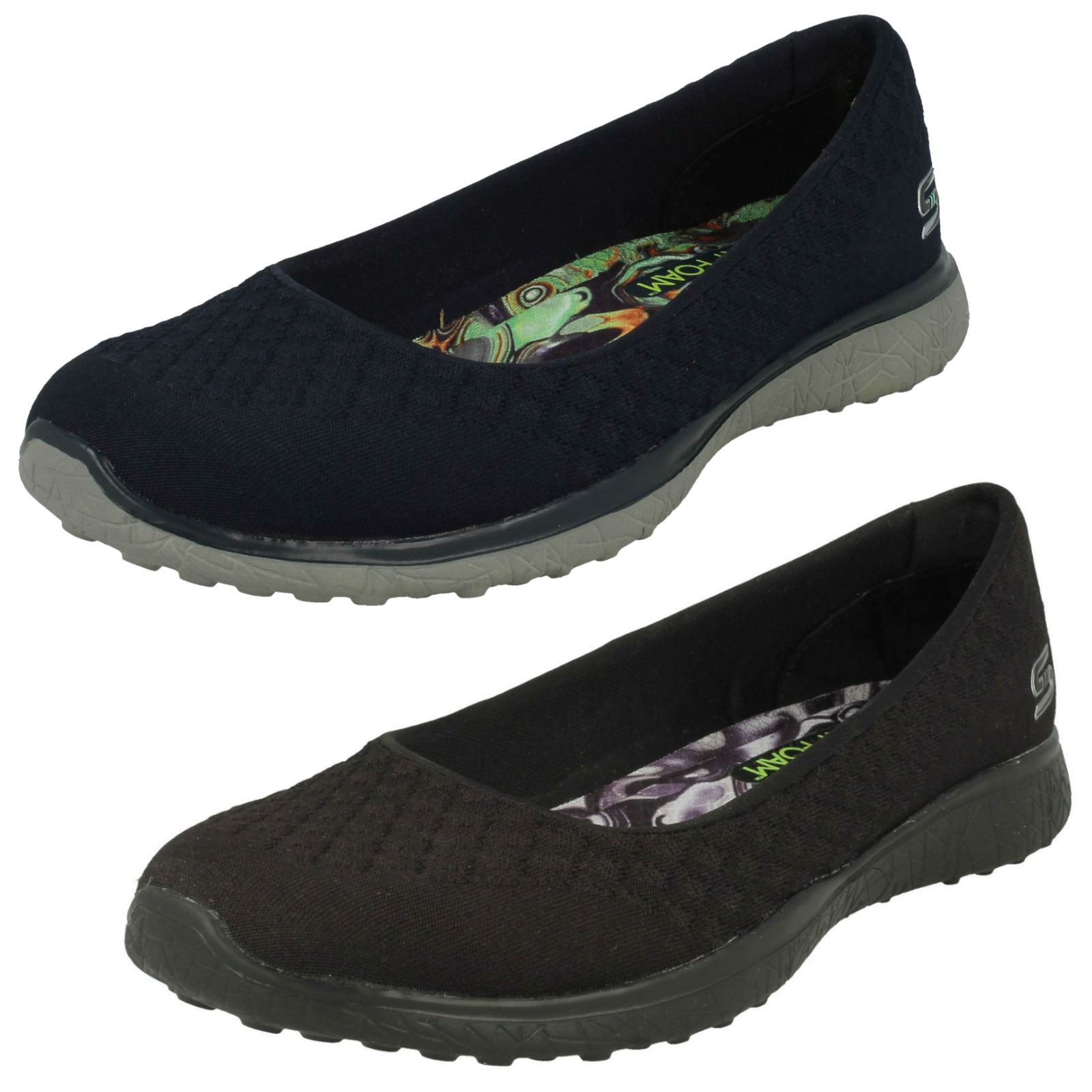 skechers memory foam slip on