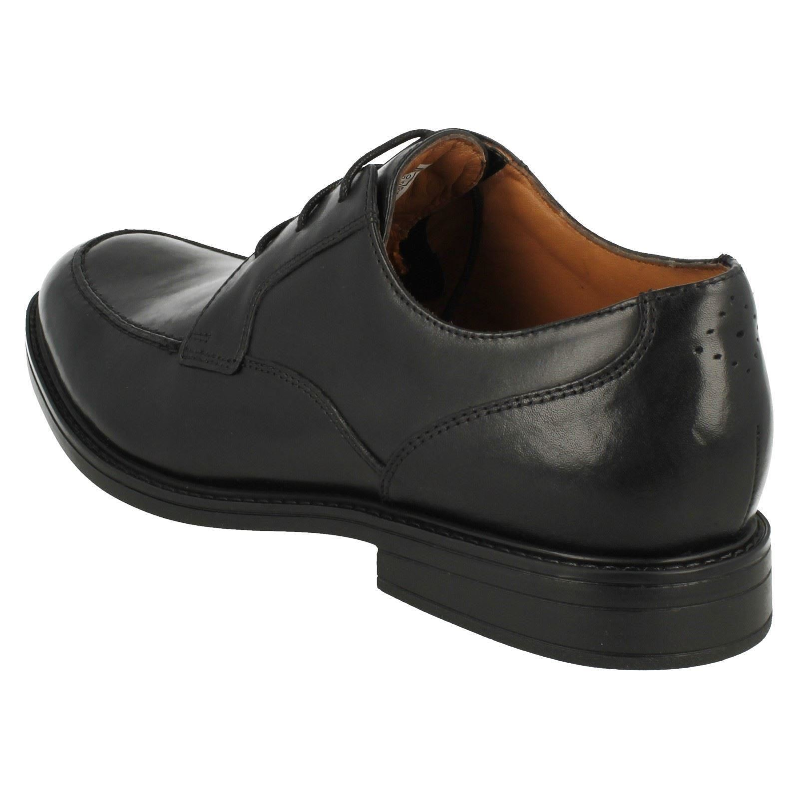Beckfield Clarks zapatos negro formales delantal para hombre 4awaqFP