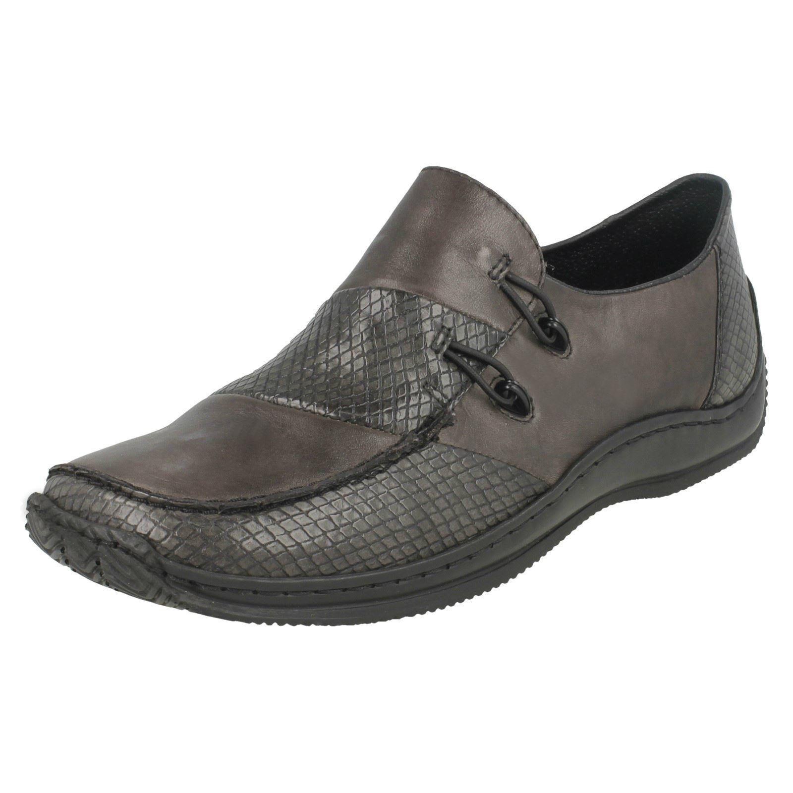 Détails sur Femmes Rieker Cuir Anti Stress Plat Chaussures L1762