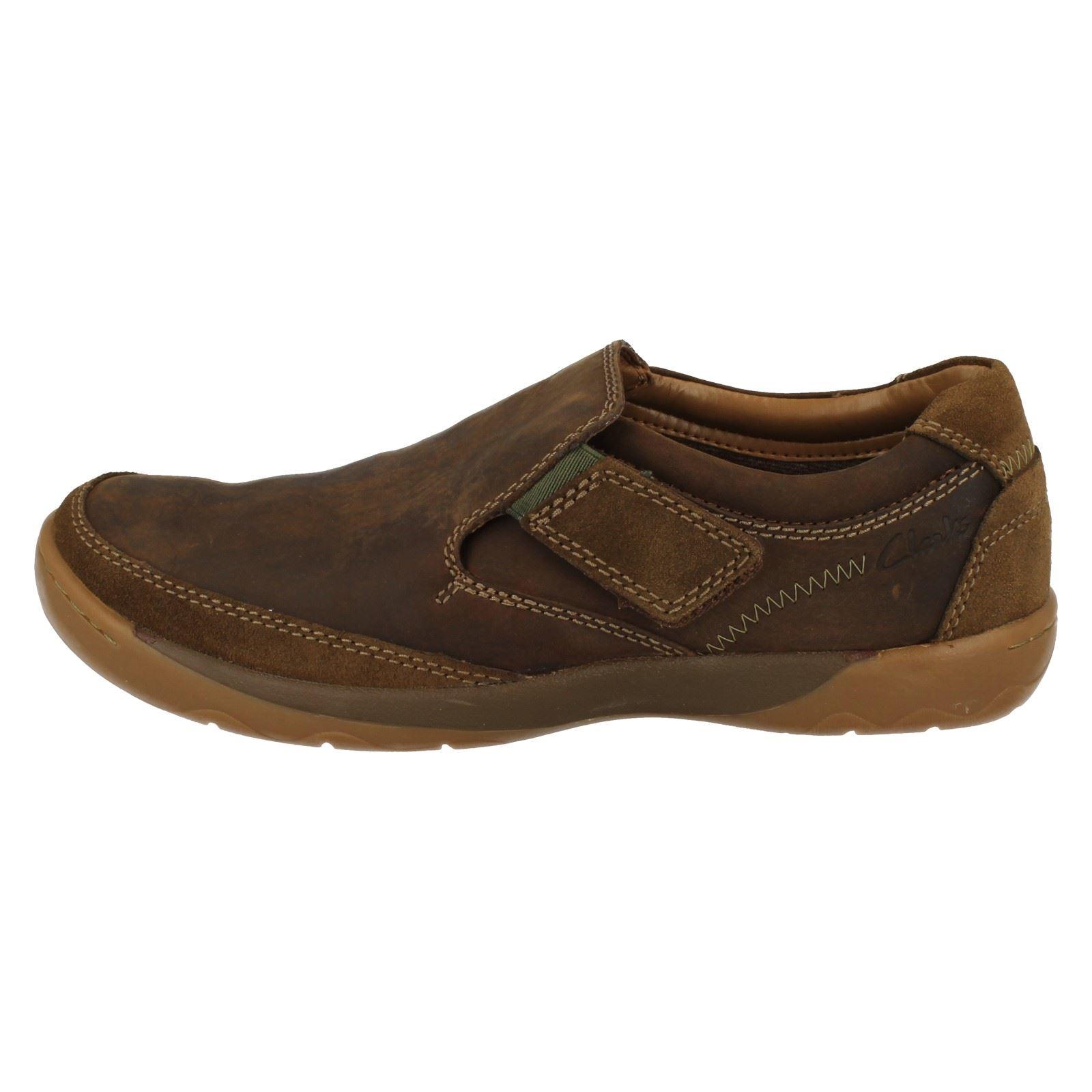 Step Clarks Mens marrone tabacco casual Ridgeway Scarpe 1E1dqTw