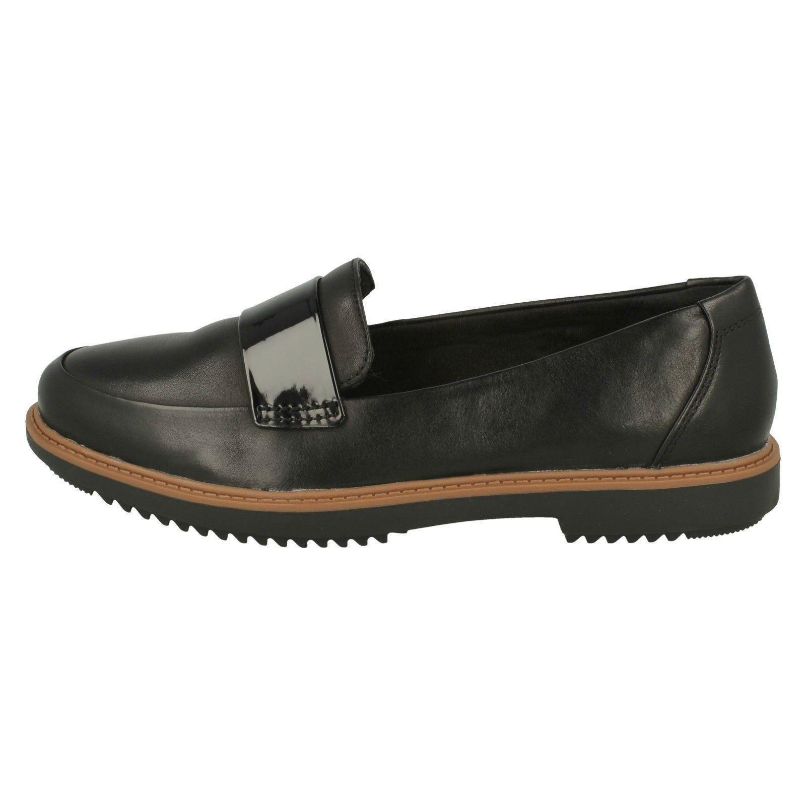 negro holgazán para Smart estilo Calzado Arlie damas Clarks Raisie 18agRwq