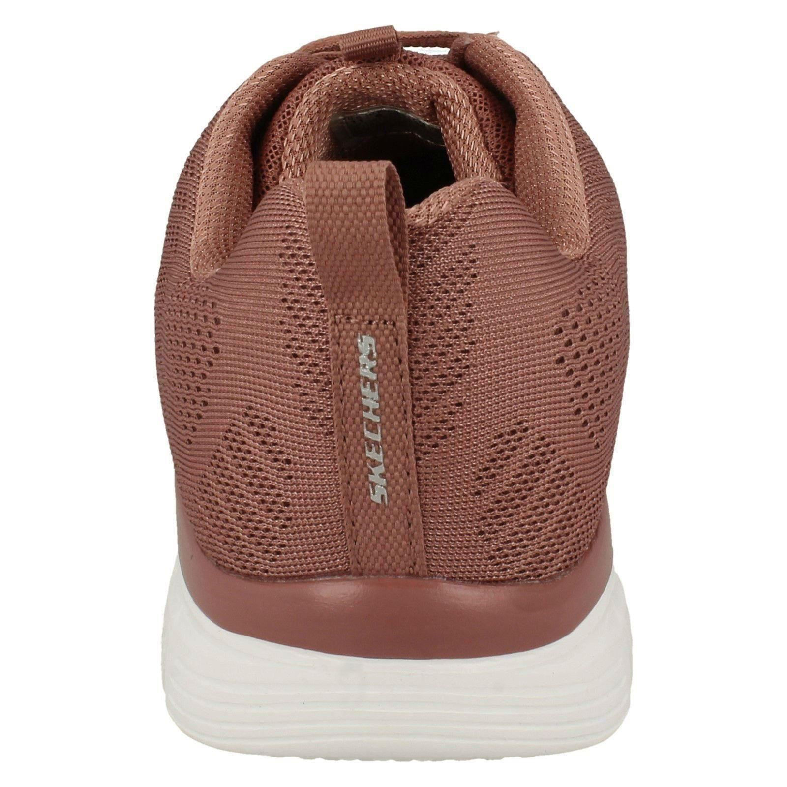 Skechers malva de Trainers Lace Casual Las rosa color Up señoras Textile se Everyday conectan Cvw7q57