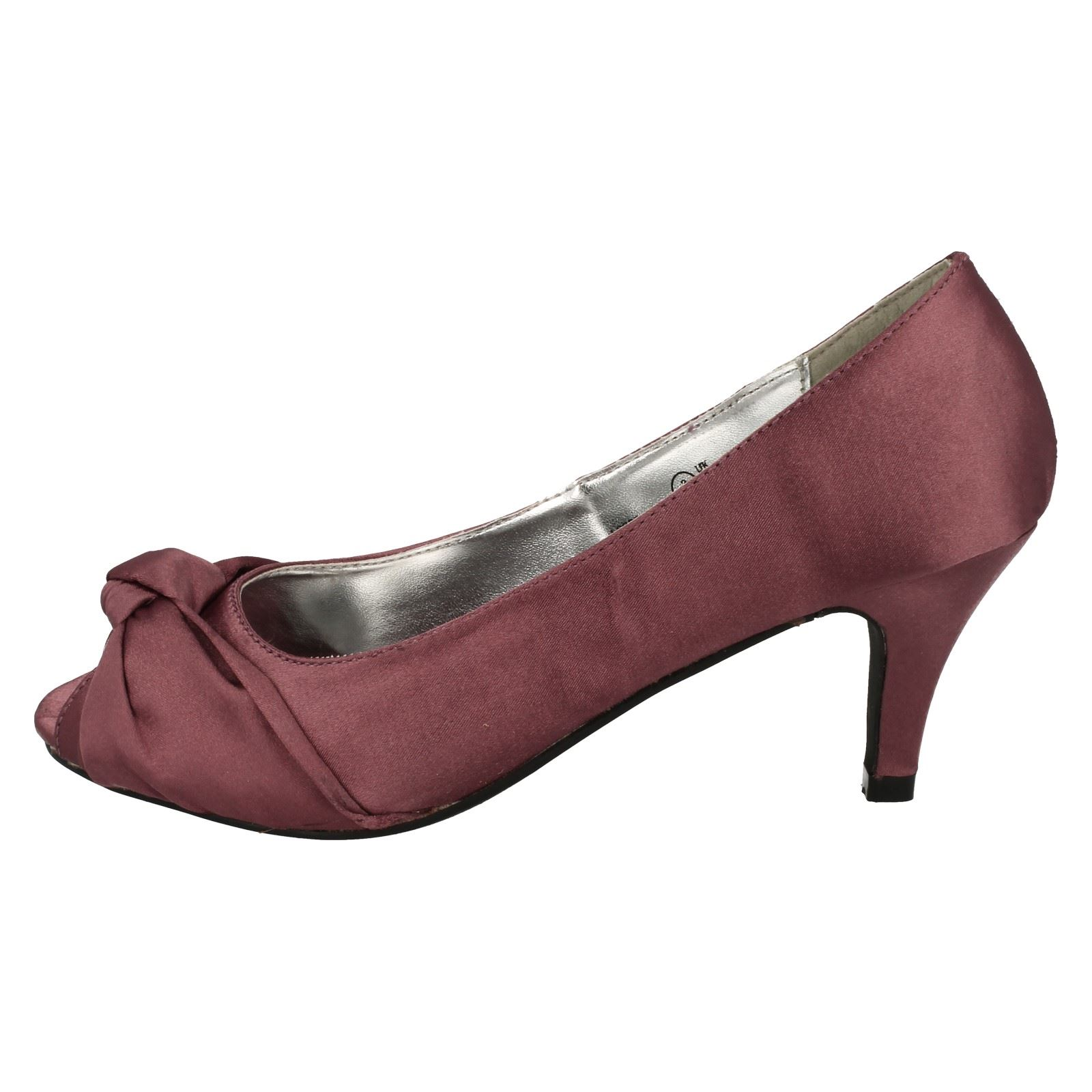 Anne-Michelle-Ladies-Knot-Detail-Peep-Toe-Court-Shoe thumbnail 21