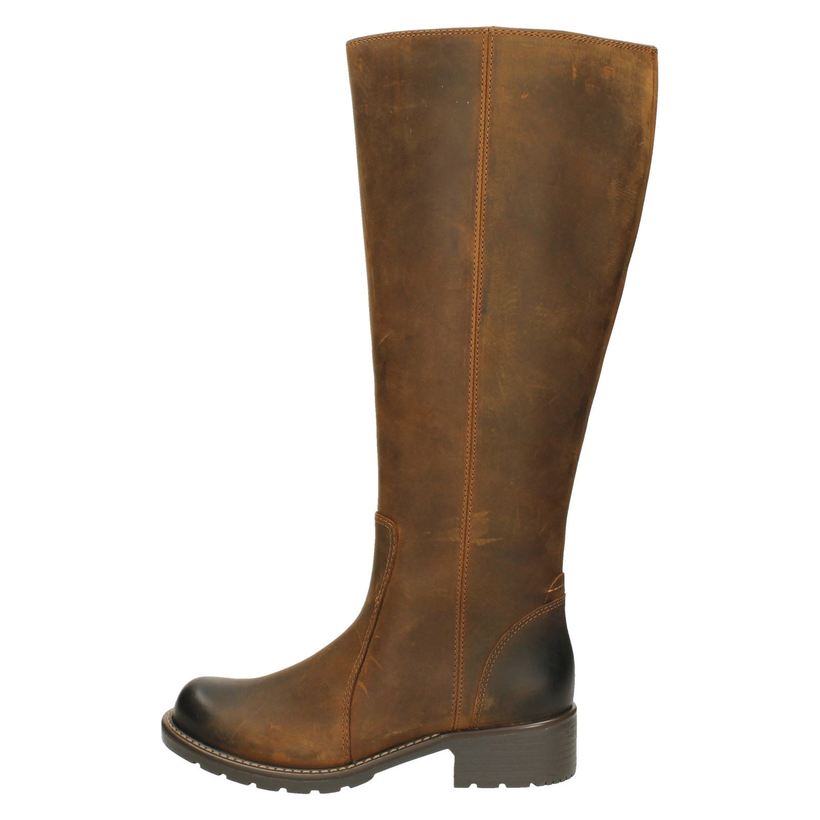 Eave Snuff al ginocchio Clarks marrone Brown Stivali Donna Orinoco wEHxXt0tq