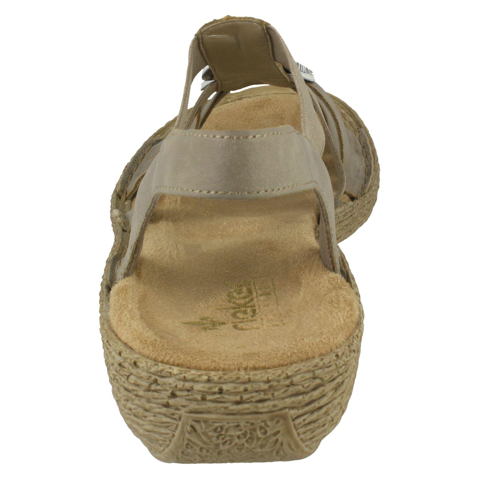 Rieker Ladies Grigio 65862 Toe Sandals Peep PFSwf