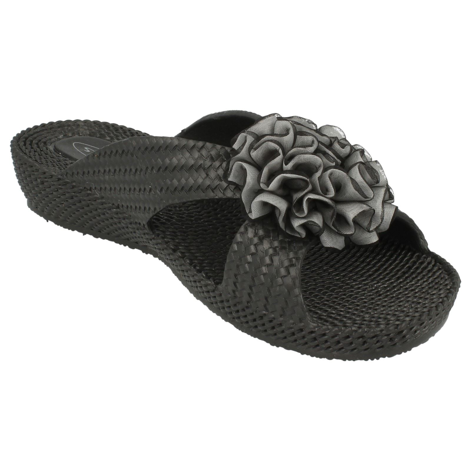 Spot on Damas Slip on Mediados de cuña Roseta Vamp Sandalias