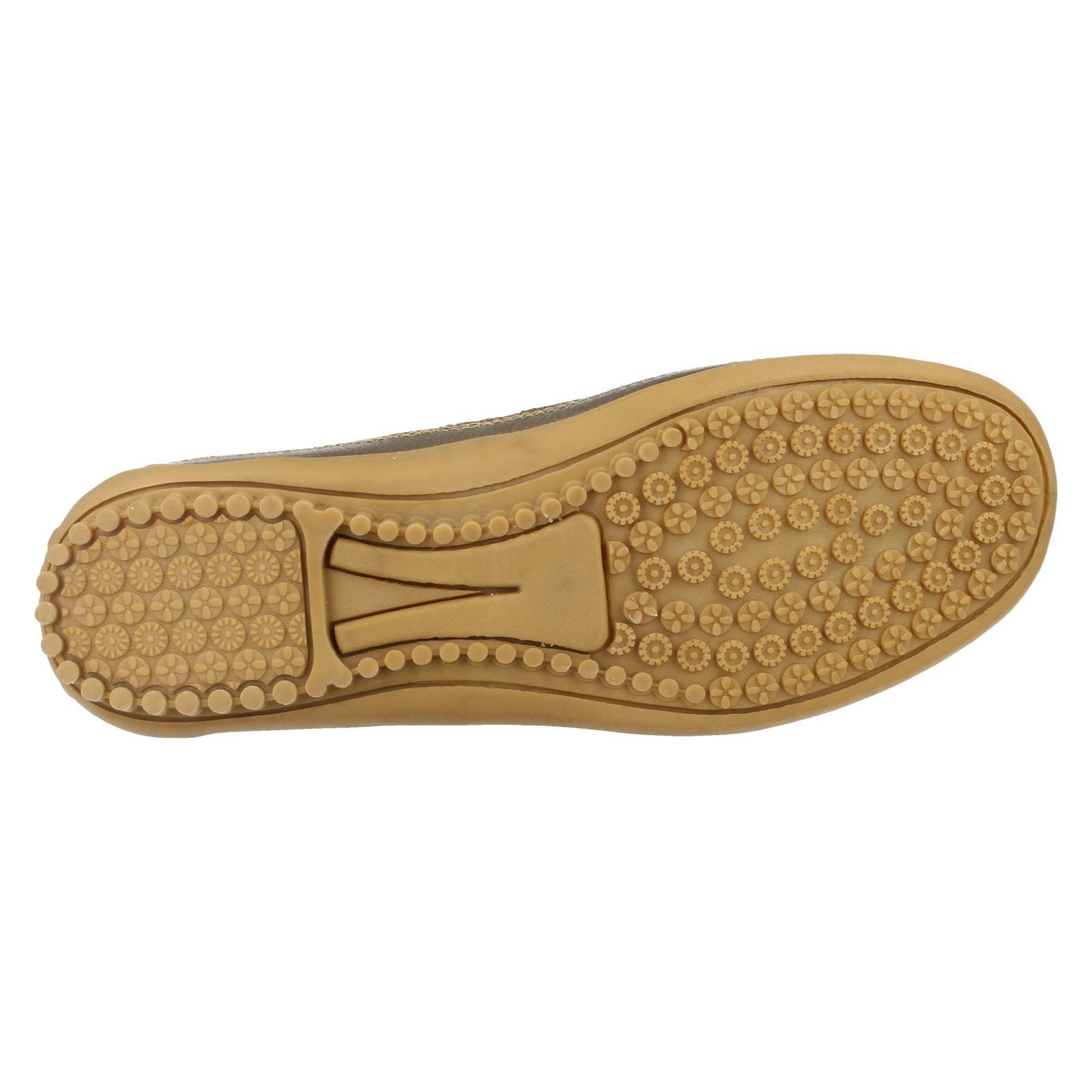 Ladies-Down-To-Earth-Flat-Cut-Out-039-Shoe-039