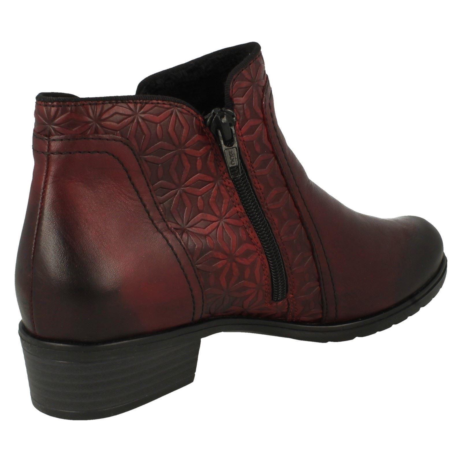 Ankle Smart Ladies D6873 Remonte Red Boots EEqSvwZRx