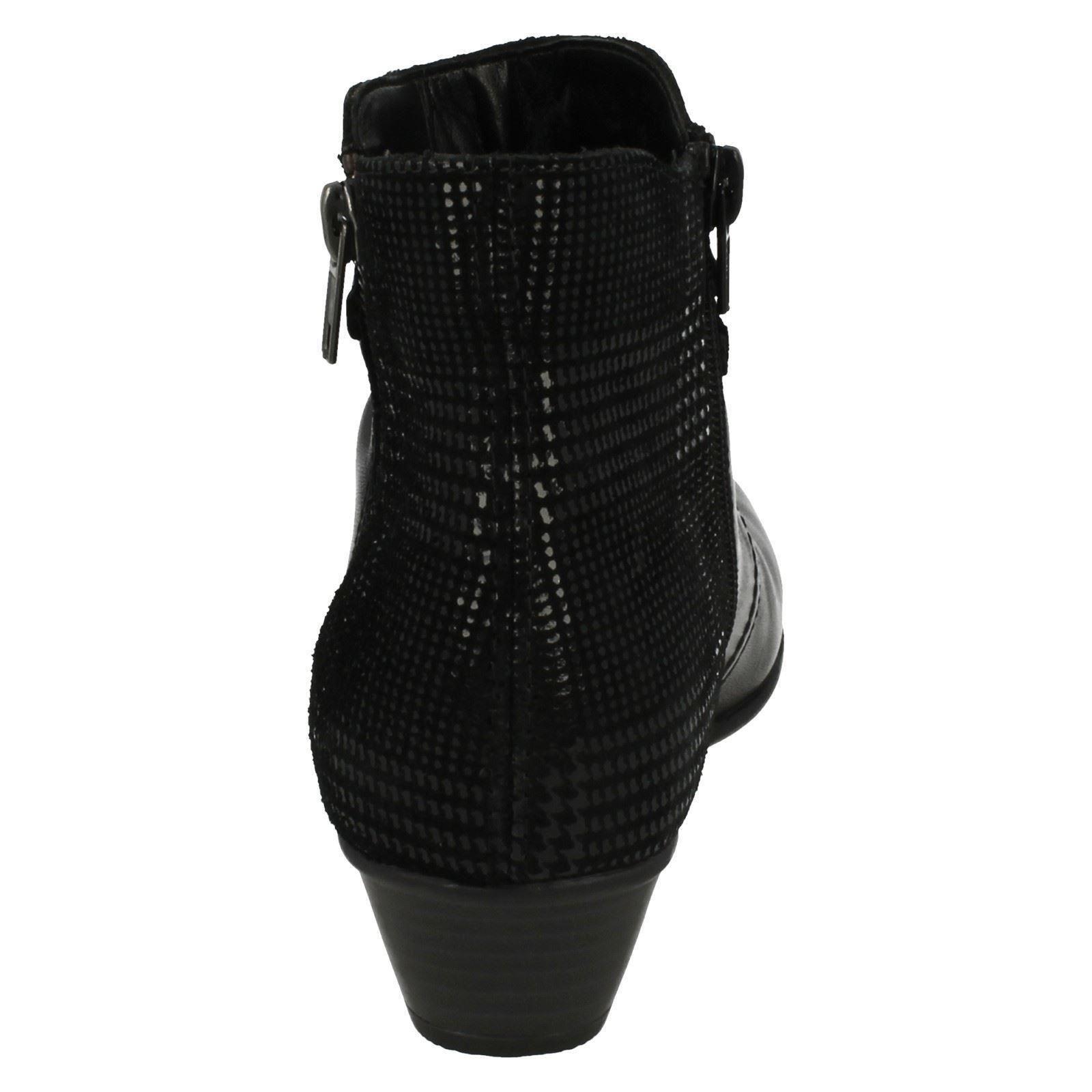 Ladies Remonte D7382 D7382 D7382 Heeled Ankle Boots 32a2cb