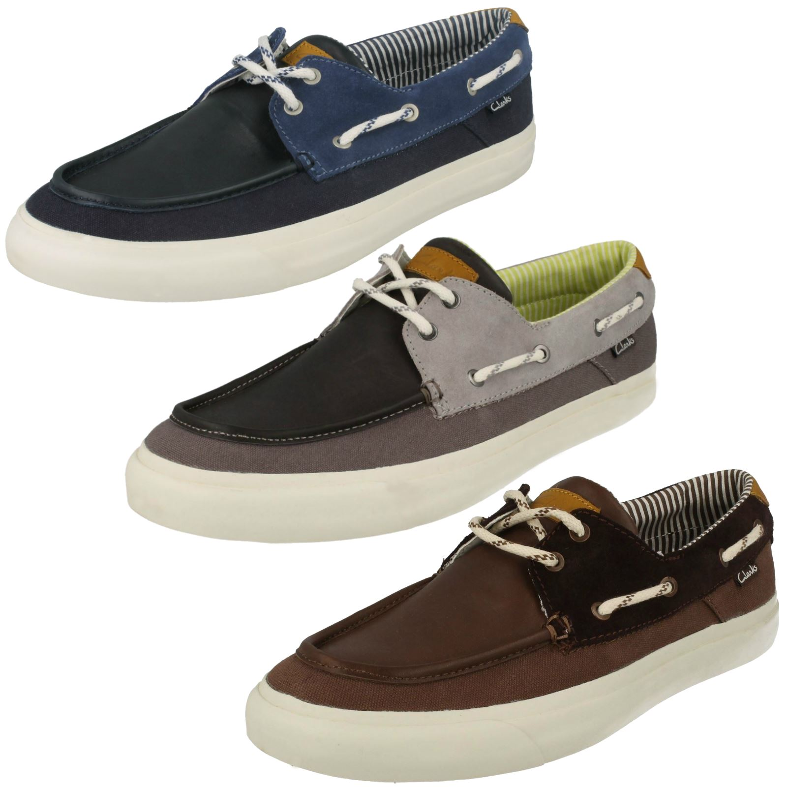 homme clarks toile à Lacets Chaussures Sport Style - Sulley Ollie RDR1l