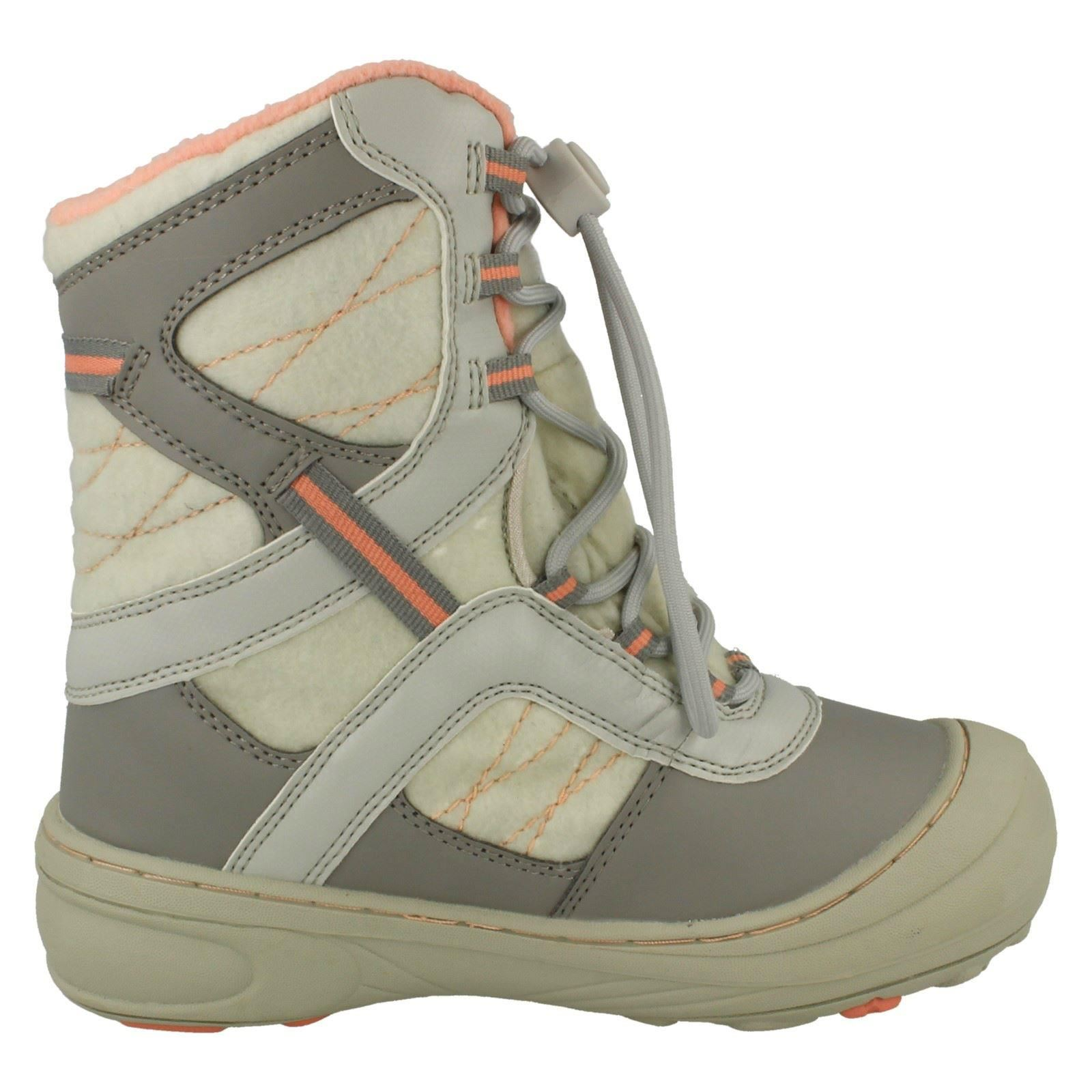 Girls Hi-Tec Casual Speed Lace Snow Boots Slalom 200
