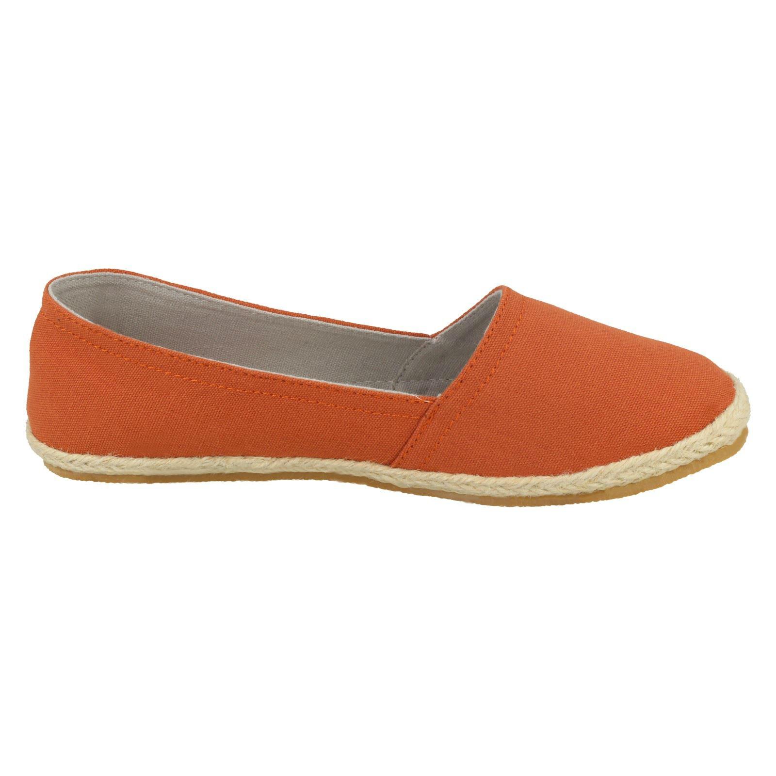 orange On Dusty Ladies Flat Slip Orange Spot espadrille Zx8qp07