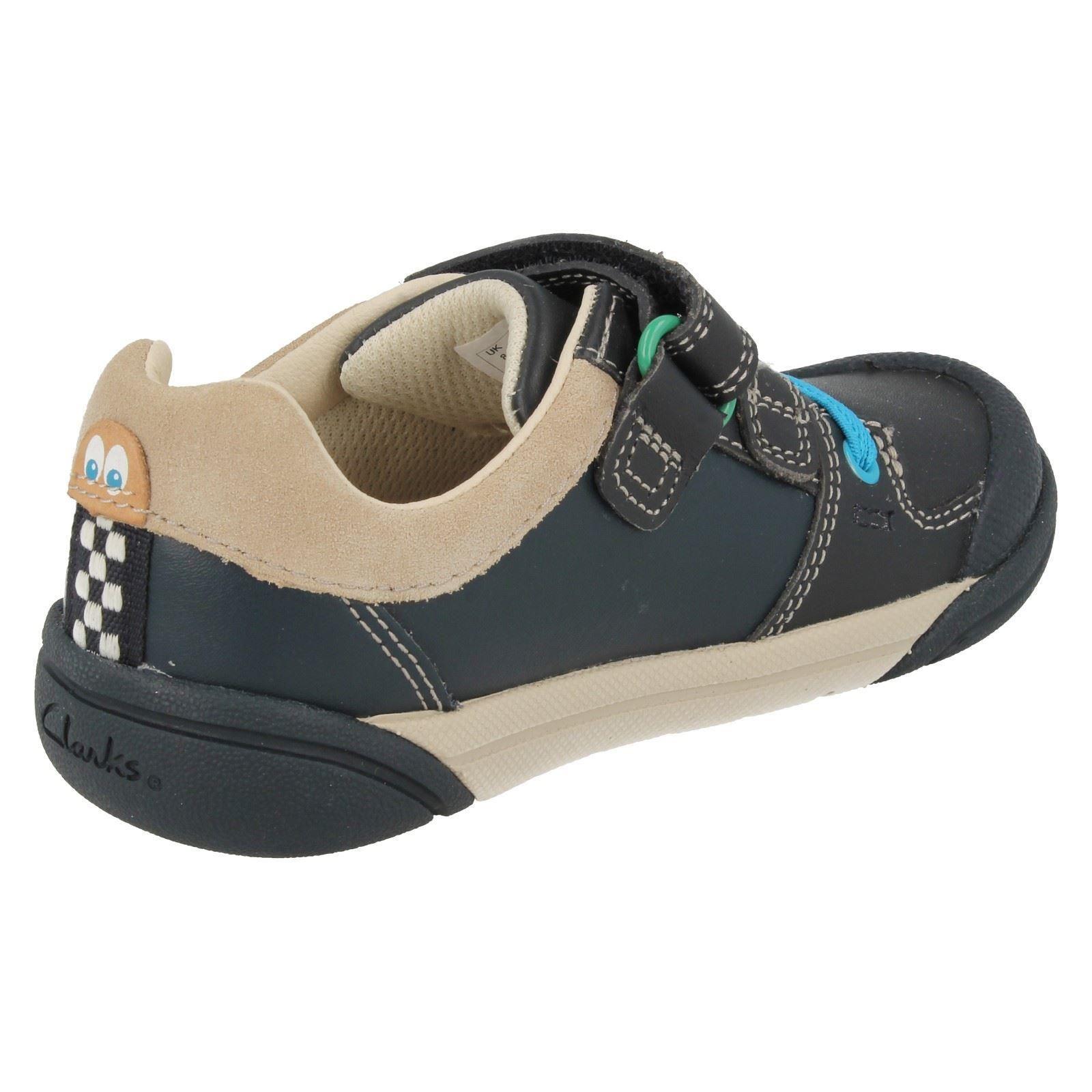 Infantil y Junior Chicos Clarks Zapatos Puntera Riptape Correa de redondeado-lilfolkcub