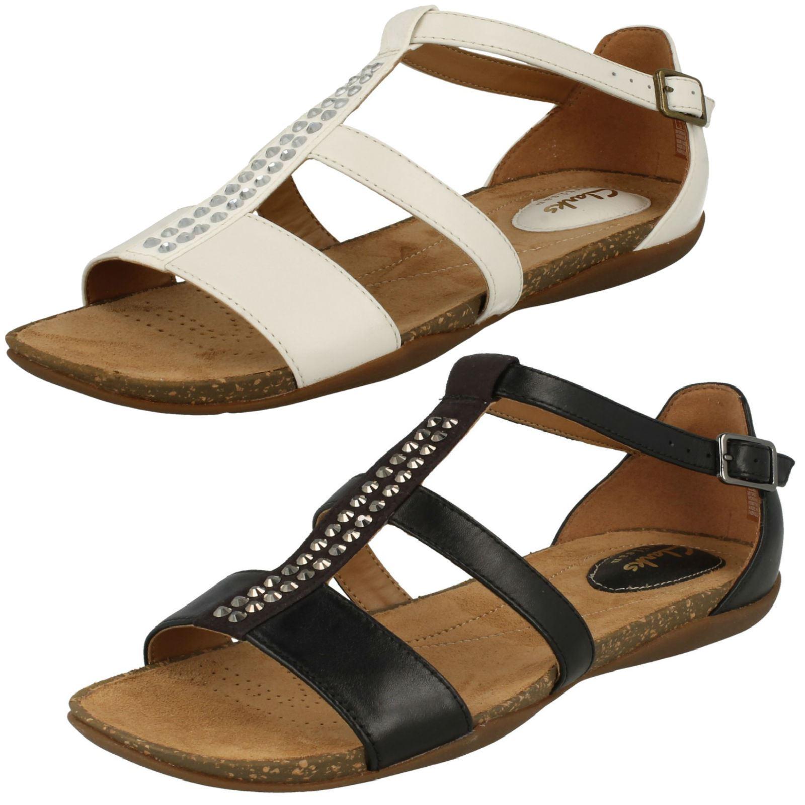877a08ca09c2 Details about Ladies Clarks Diamante Detailed Sandals - Autumn Fresh