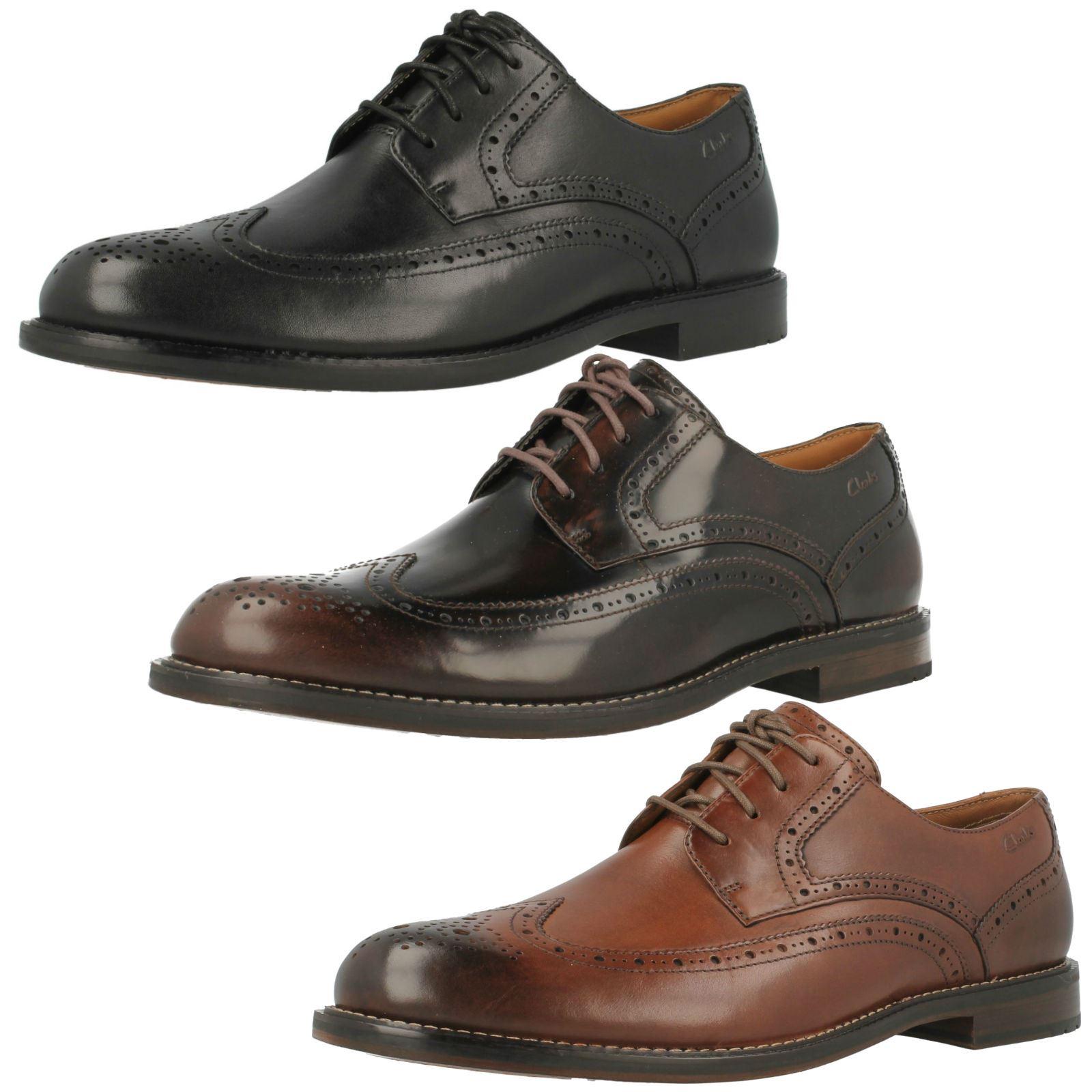 Details about Mens Clarks Formal Lace Up Brogue Shoes 'Dorset Limit'