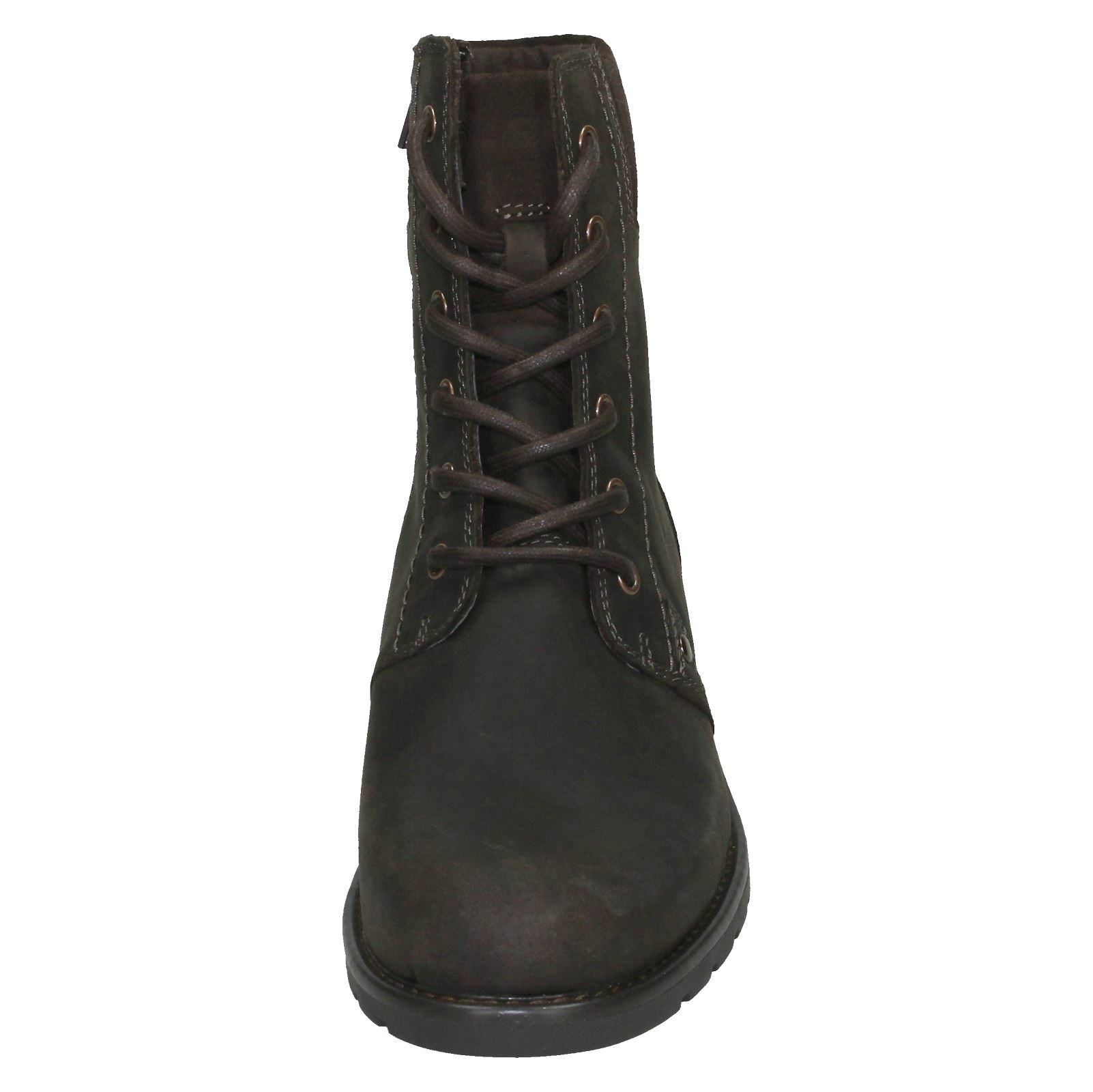 Ladies-Clarks-Casual-Lace-Up-Inside-Zip-Nubuck-Leather-Ankle-Boots-Orinoco-Spice thumbnail 36