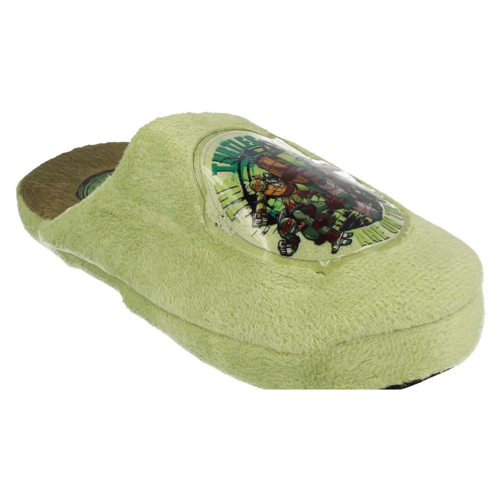 'Boys Spot On' Rounded Toe Mule Slippers - Teenage Mutant Ninja Turtles