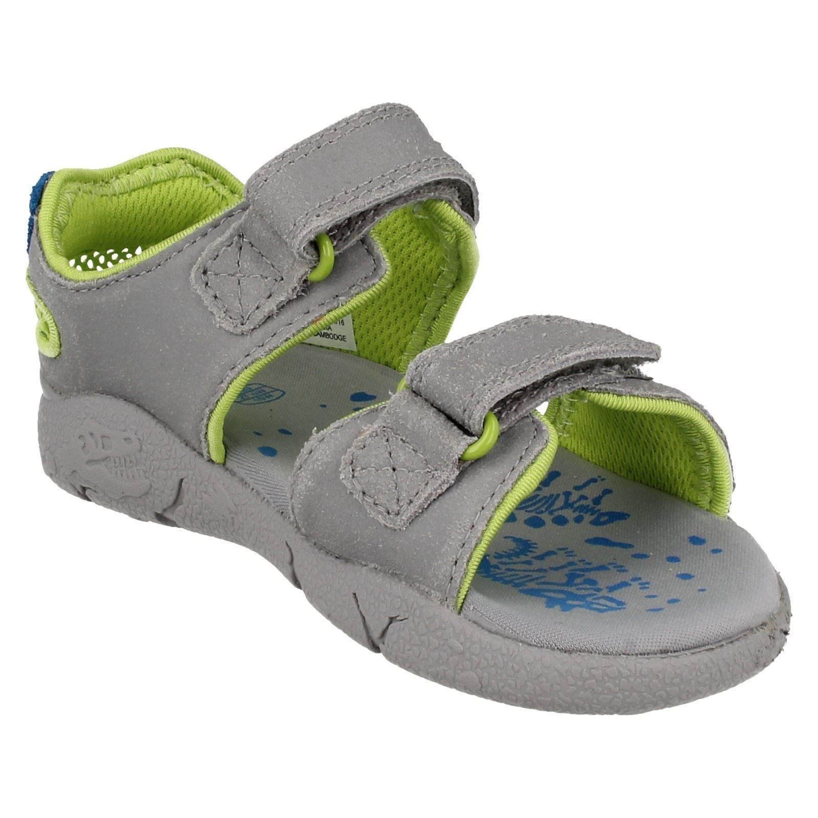 83fff616230 Boys Clarks Sandals Label Tyranowalk Grey Combi UK 12.5 Kids G