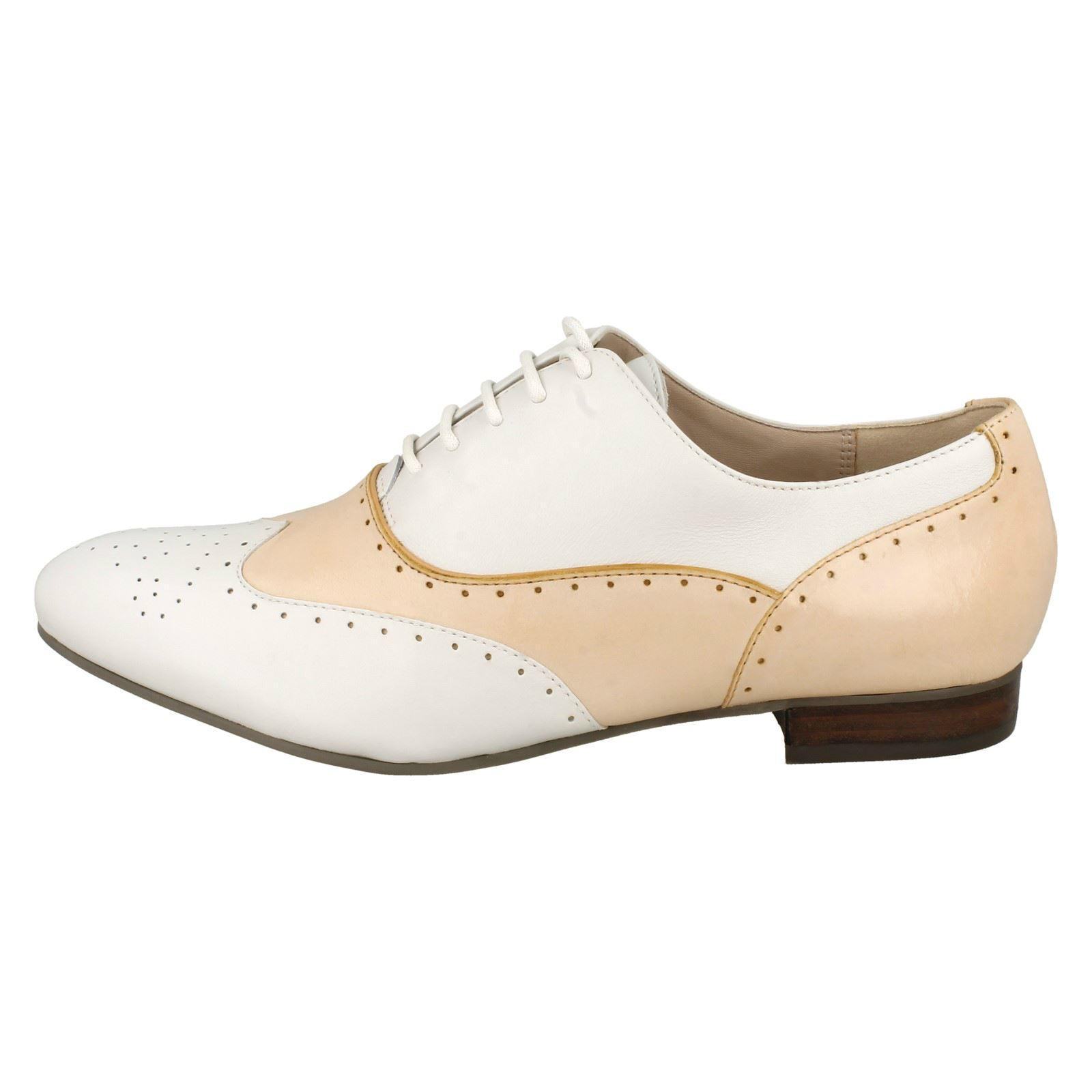 casuales zapatos Willow Damas Ennis Tan estilo Brogue Clarks elegantes beige de Light fqqEZ