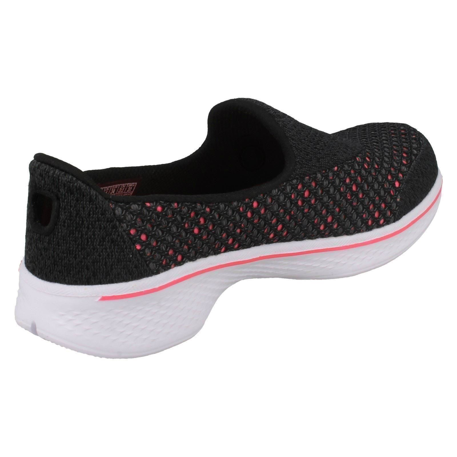Details about Girls Skechers Go Walk 4 Kindle 81118 Flats With Mesh Detail